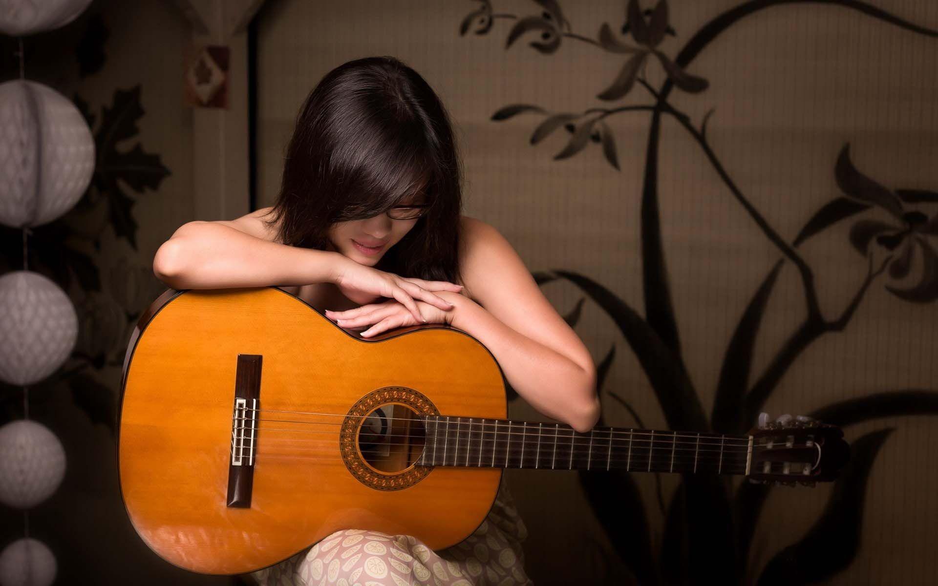 Res: 1920x1200, Girl Guitar Music Mood Wallpaper   HD Dance and Music Wallpaper Free  Download ...