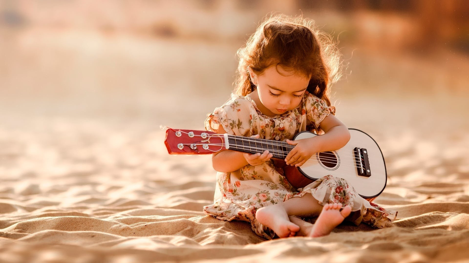 Res: 1920x1080, baby girl with guitar HD wallpapers