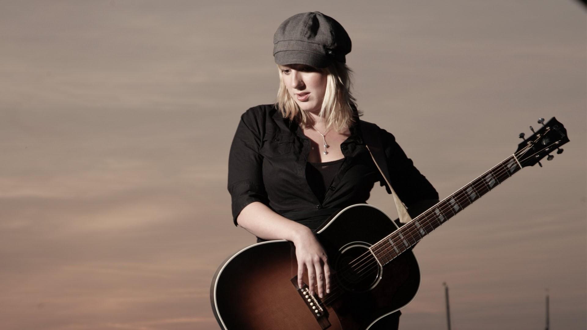 Res: 1920x1080,  Wallpaper claudia koreck, guitar, girl, sky, blonde