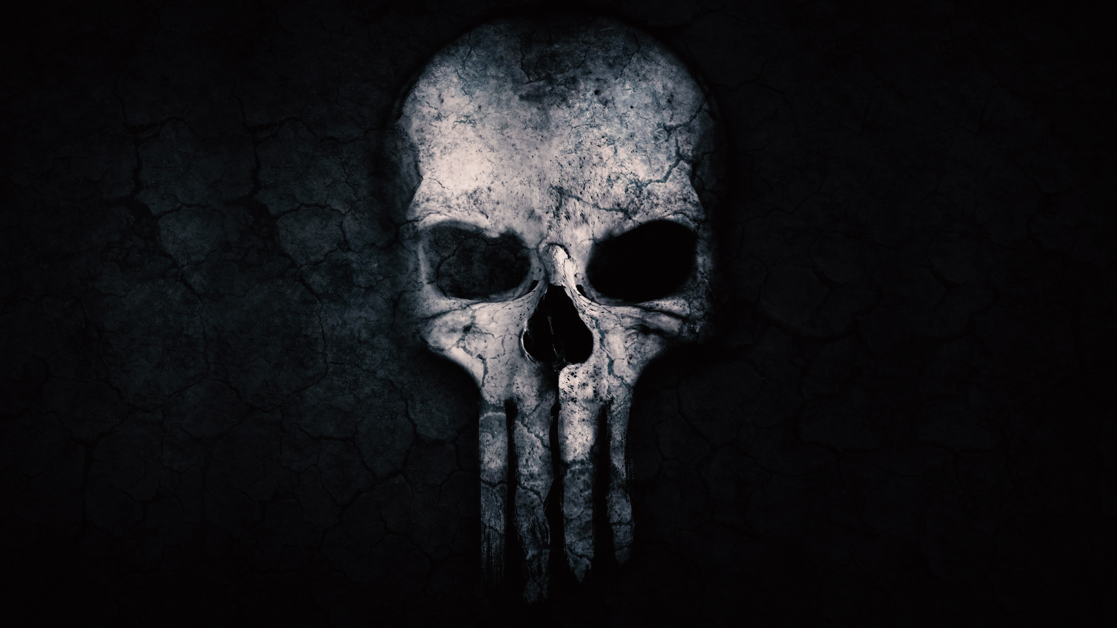 Res: 3840x2160, Punisher Skull ChromeBook Wallpaper