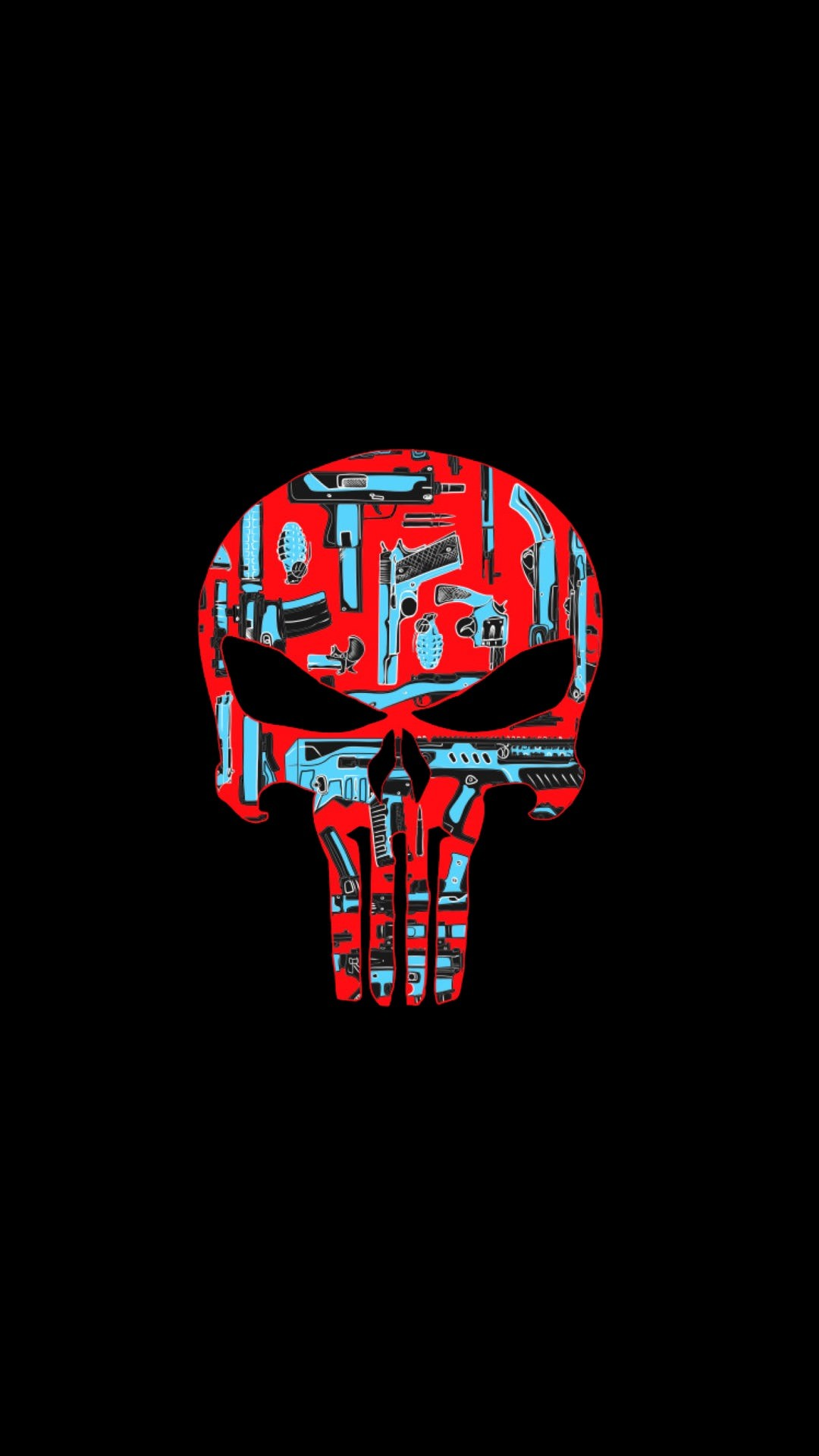 Res: 1080x1920, AMOLED Punisher Skull Wallpapers ()