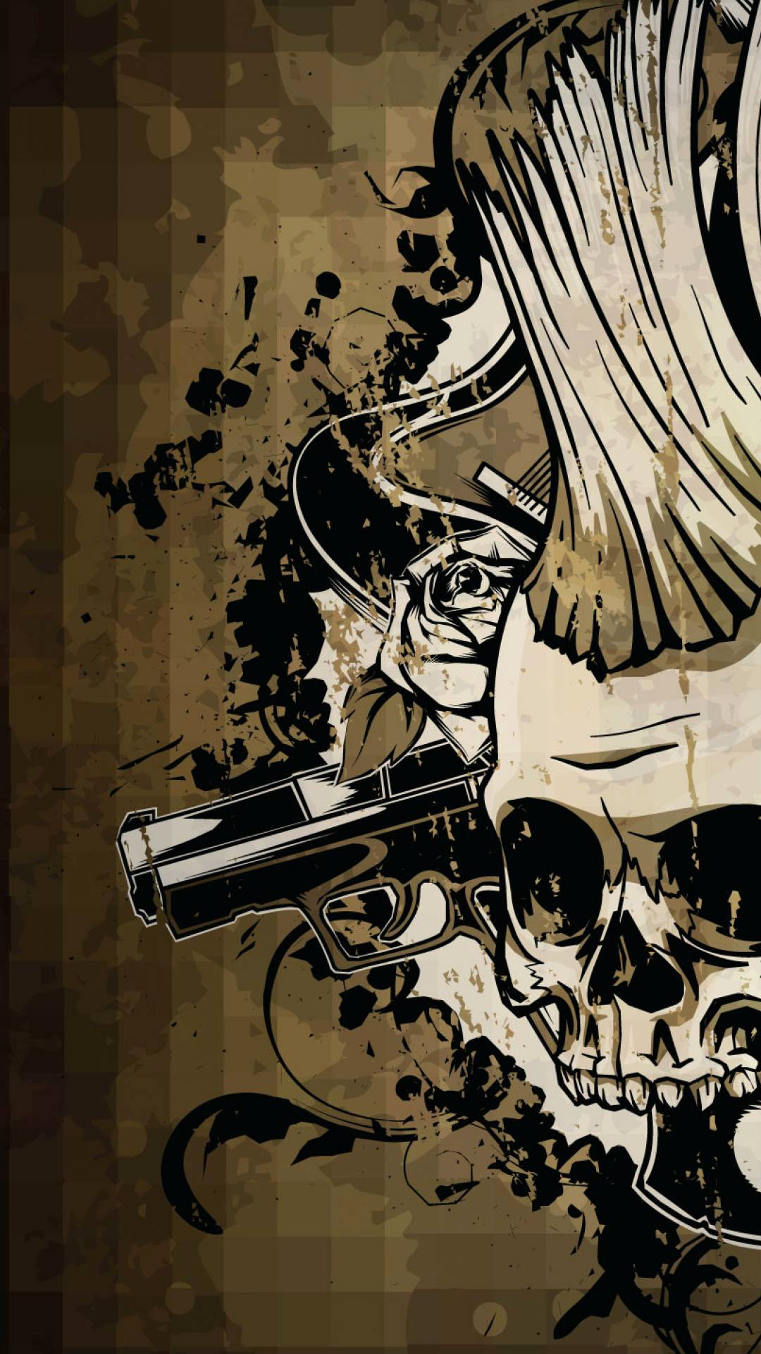 Res: 1080x1920, Free Skull Wallpapers Best Of Punisher Skull Wallpaper for android  Impremedia