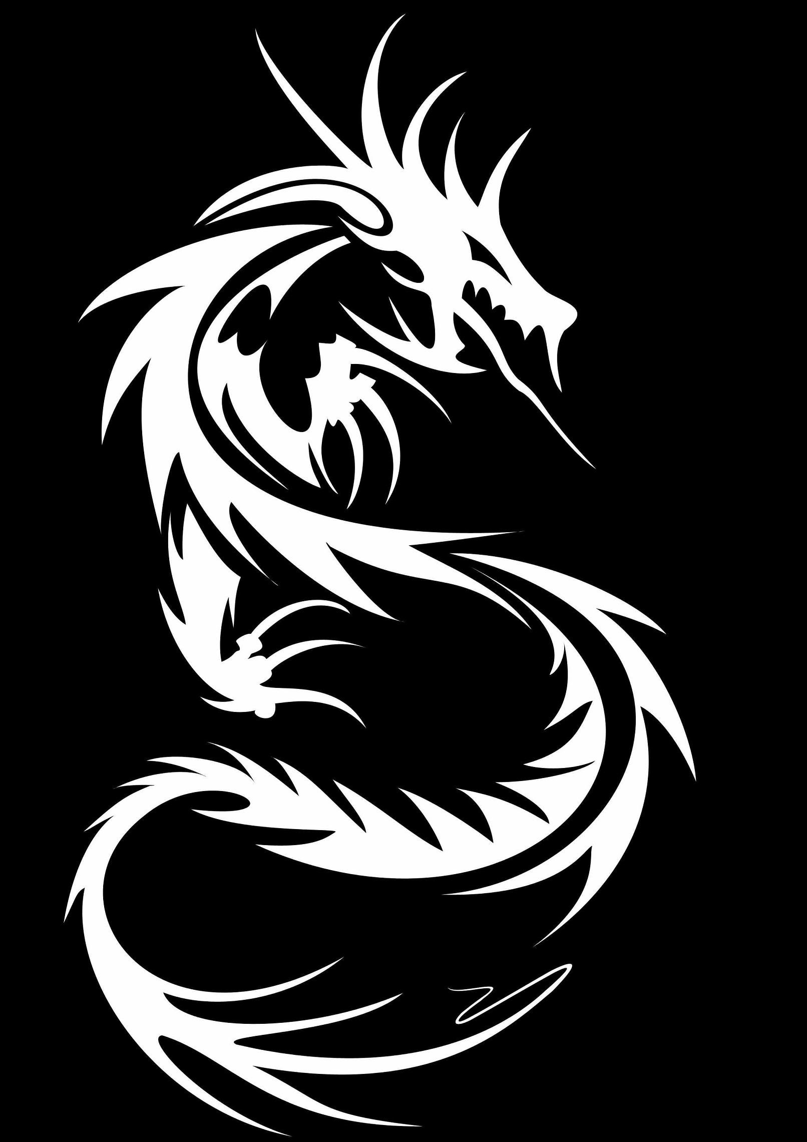 Res: 1612x2281, #9015 tribal dragon wallpaper