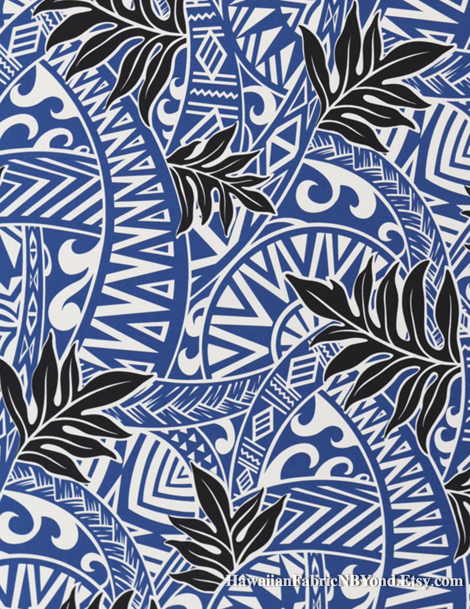 Res: 1530x1980,  Tribal fabric: Tapa patterns and tropical ferns. By  HawaiianFabricNBYond.Etsy.com