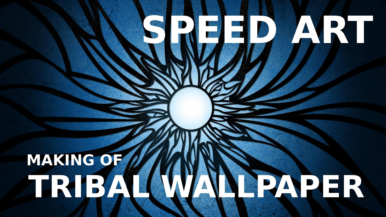 Res: 3000x1688, Speed Art: Solar flare (tribal wallpaper)