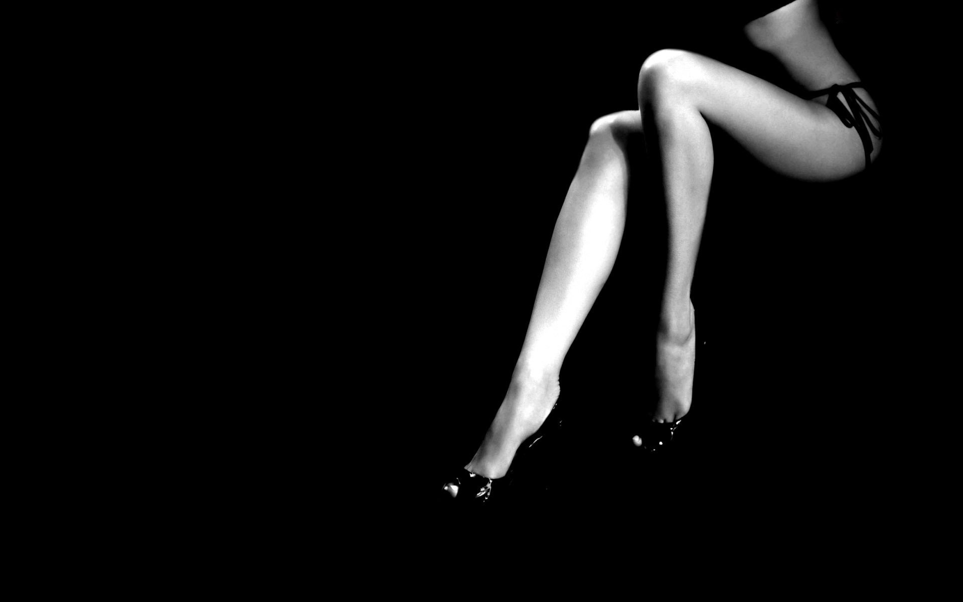 Res: 1920x1200, Photography - Black & White Legs Woman Wallpaper