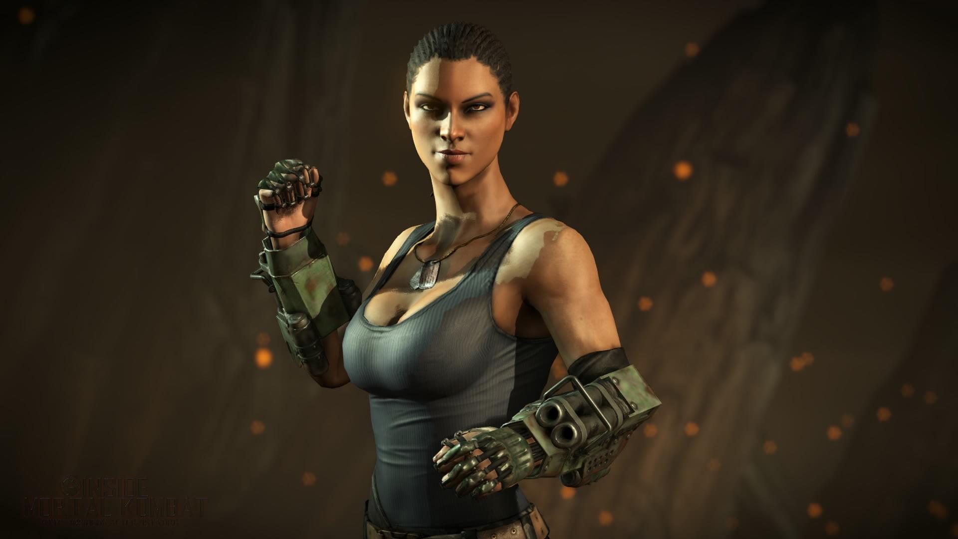Res: 1920x1080, woman wearing black tank top with gun gauntlet illustration HD wallpaper