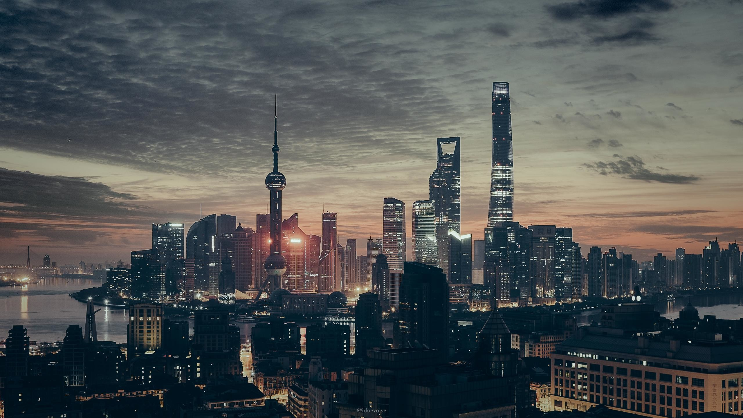Res: 2560x1440, Shanghai with a taste of Blade Runner [] [xpost from /r/cityporn]  ...
