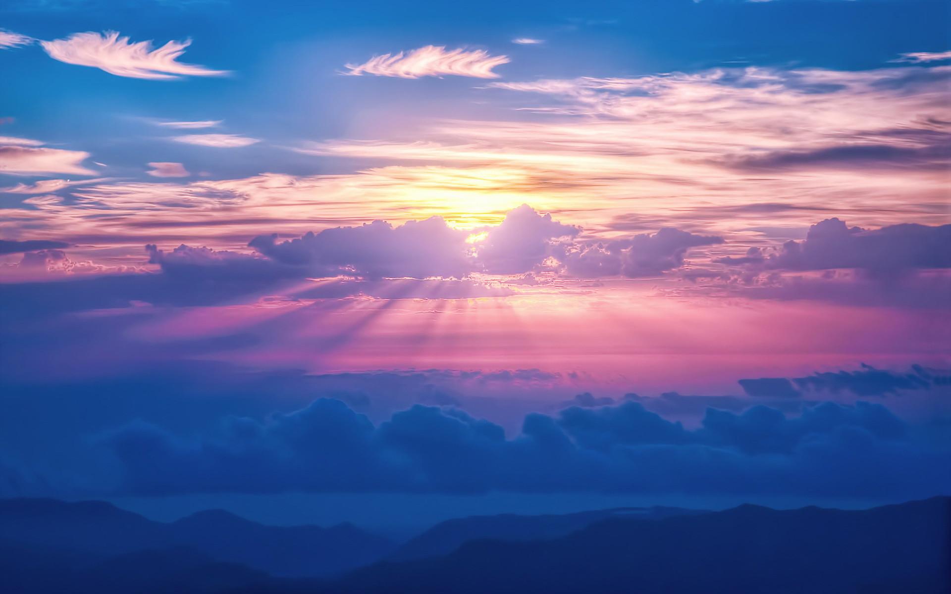 Res: 1920x1200, Sunrays Sky Clouds