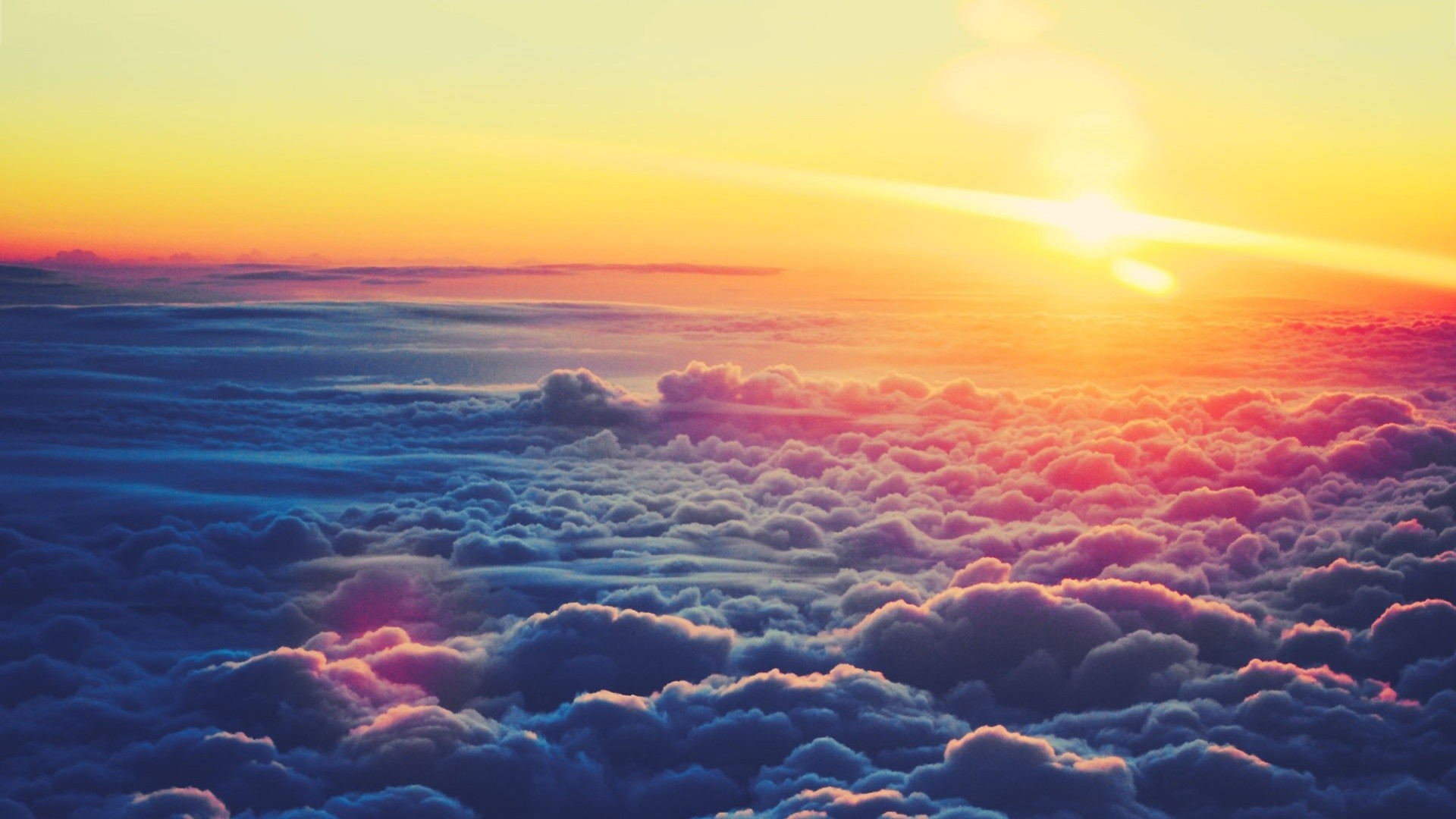 Res: 1920x1080, sunset over clouds wallpaper 1920×1080 hd wallpapers amazing cool desktop  wallpapers for windows apple mac tablet download 1920×1080 Wallpaper HD