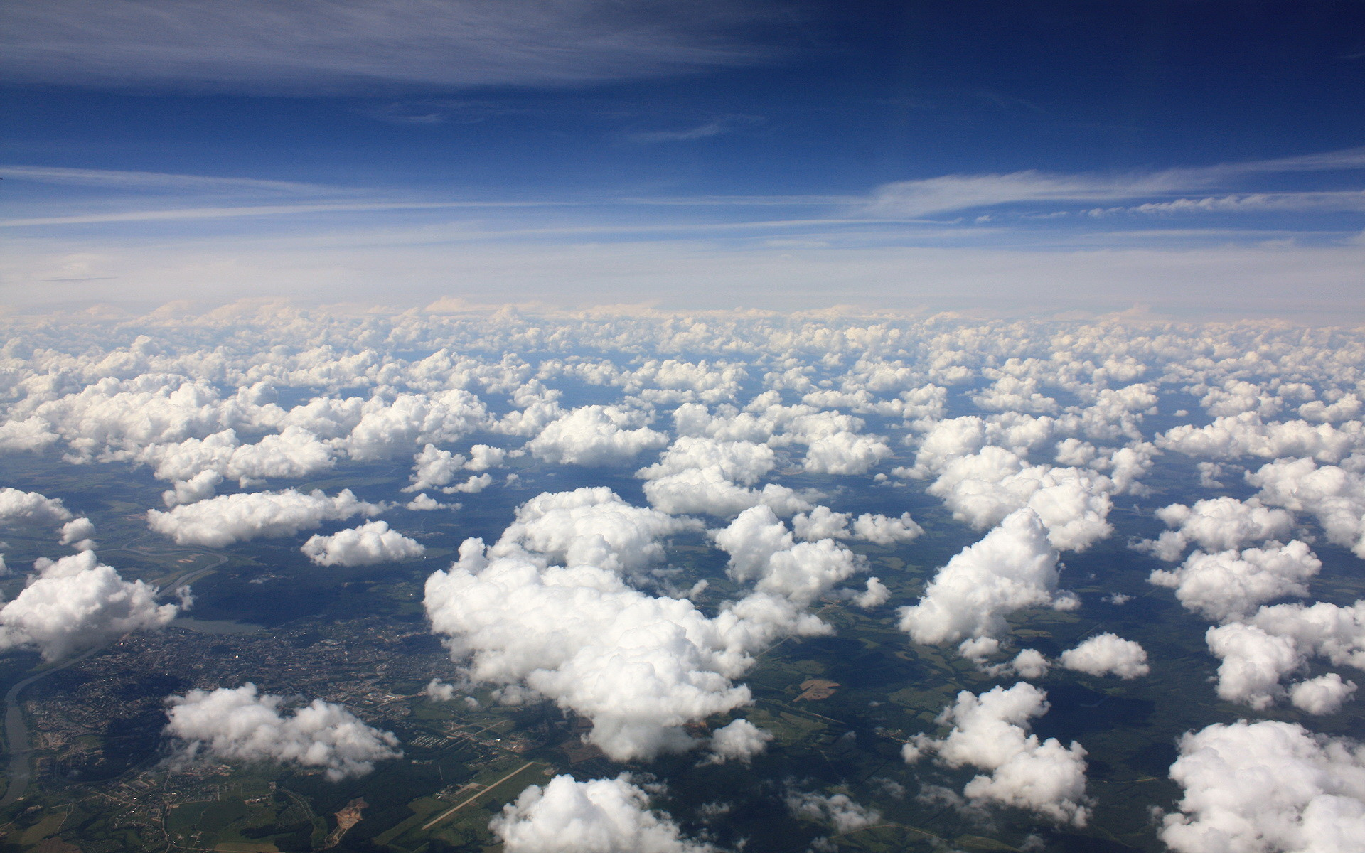 Res: 1920x1200, Above The Clouds Aerial View Free Wallpaper HD Uploaded by DesktopWalls