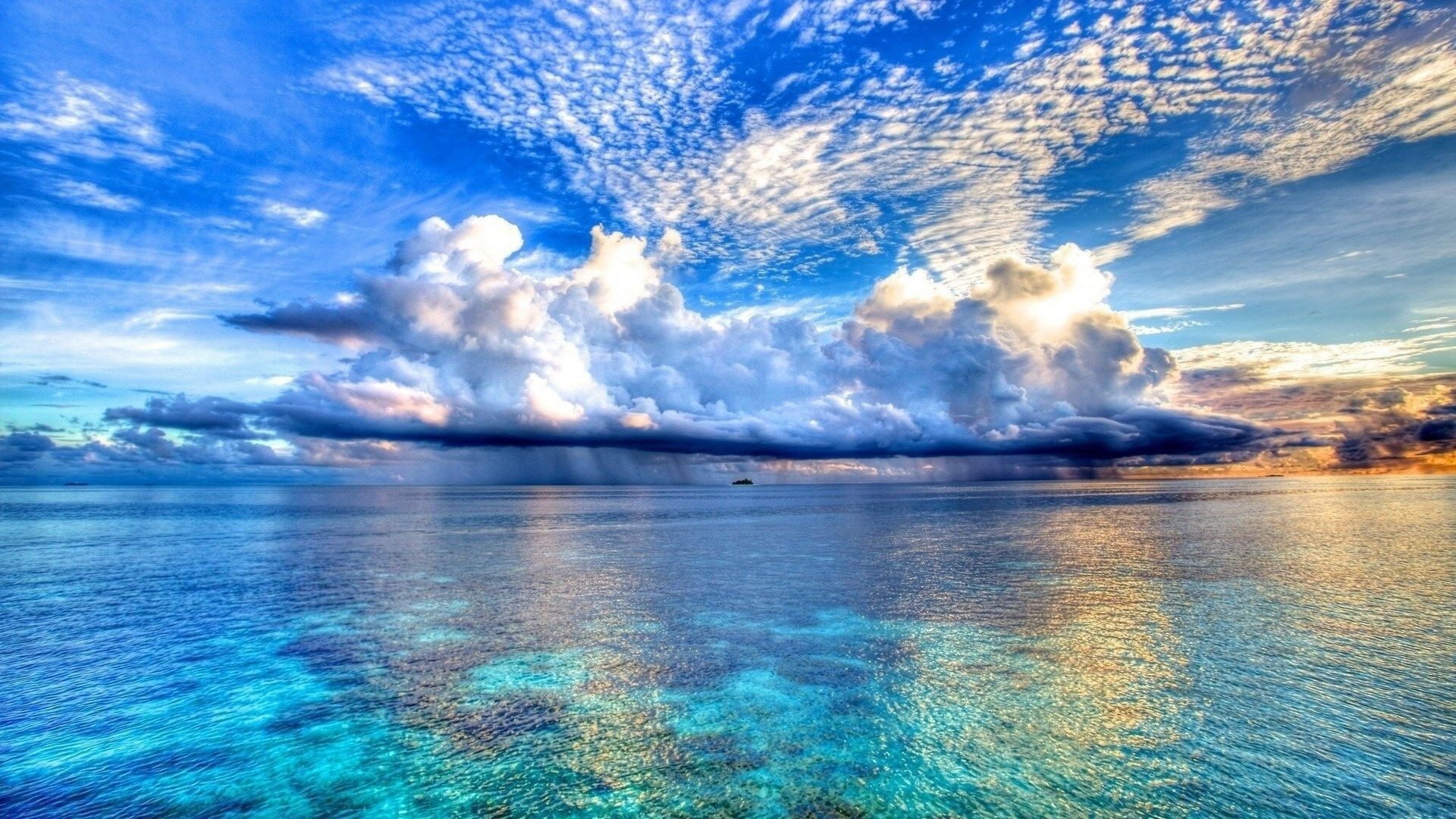 Res: 1920x1080, nature blue sea and clouds backgrounds wallpapers hd