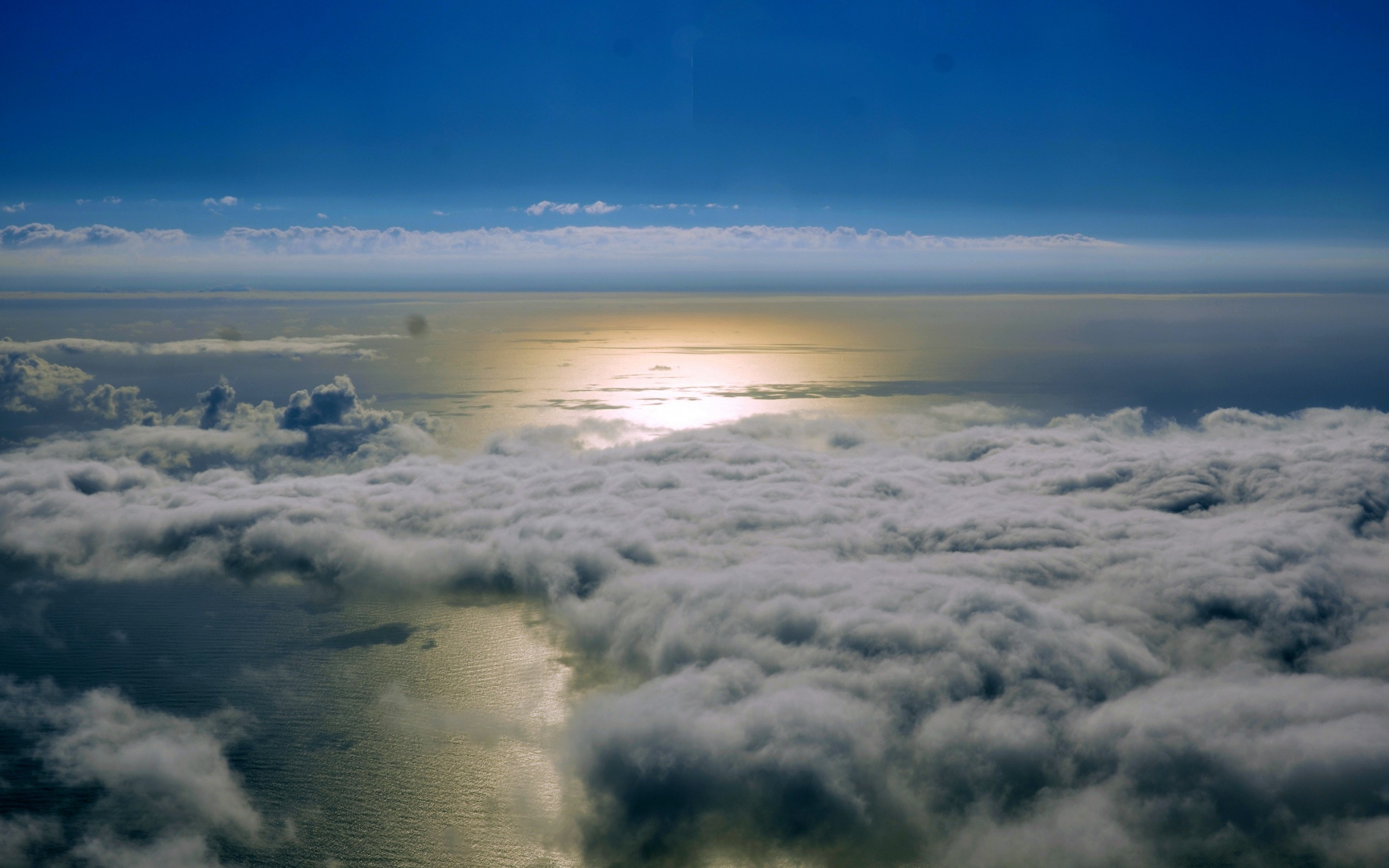 Res: 2560x1600, landscape, Sea, Clouds, Aerial View Wallpapers HD / Desktop and Mobile  Backgrounds