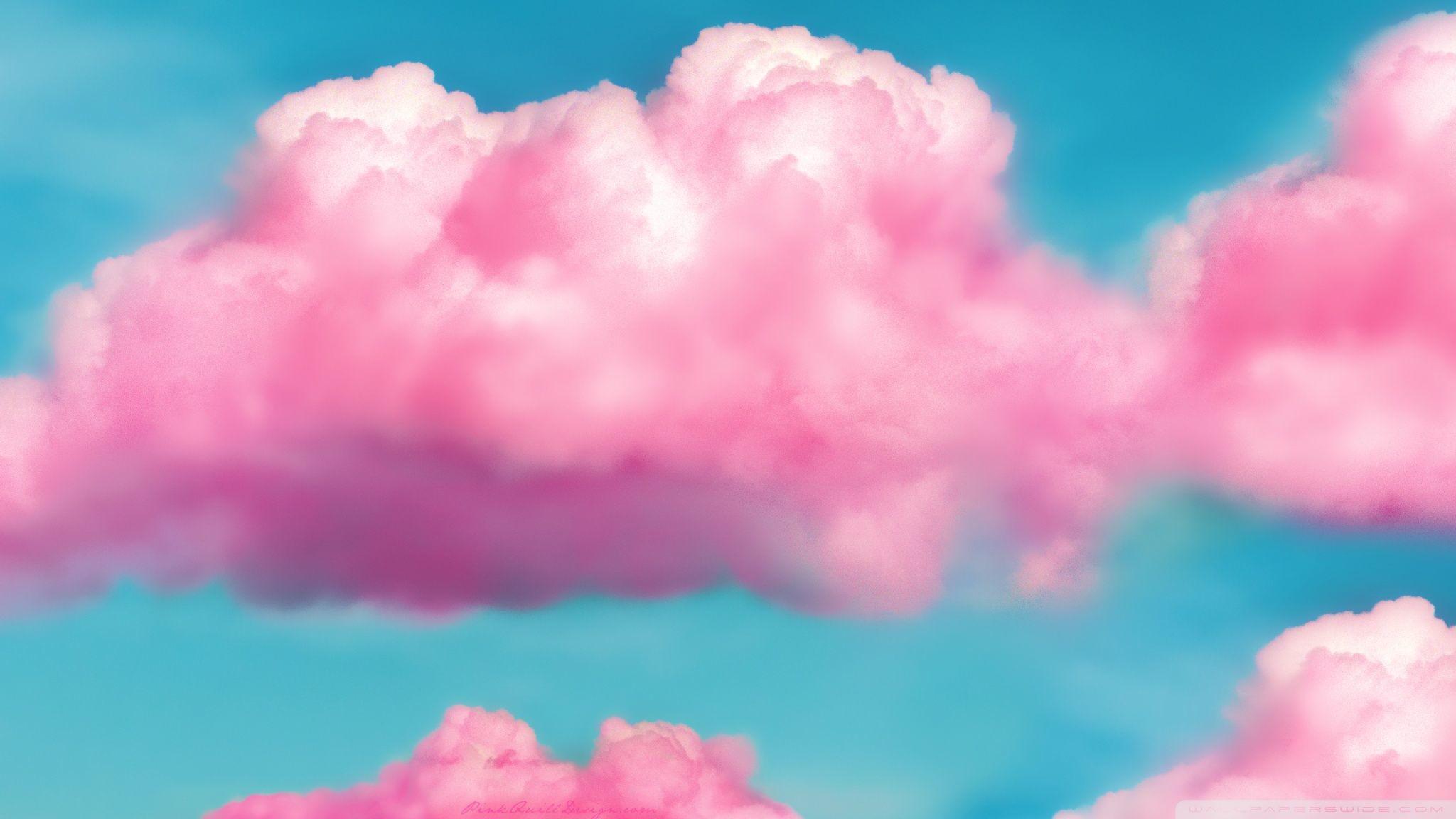 Res: 2048x1152, Pink Fluffy Clouds HD desktop wallpaper : Widescreen : High
