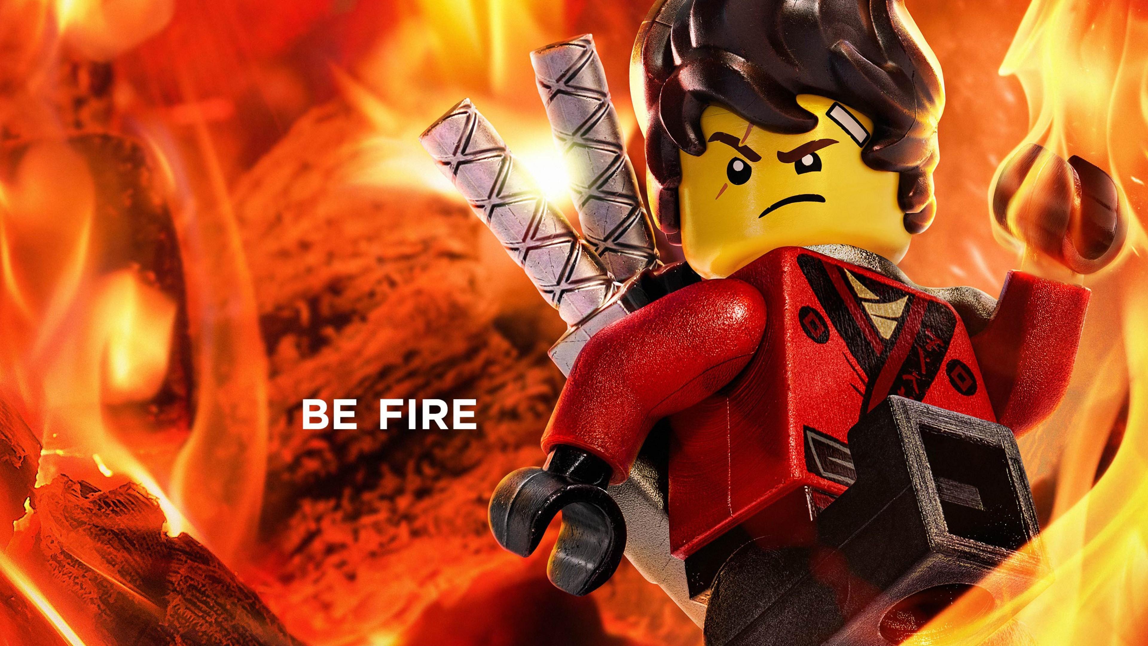 Res: 3840x2160, Kai, The Lego Ninjago Movie, Be Fire, Animation, 2017