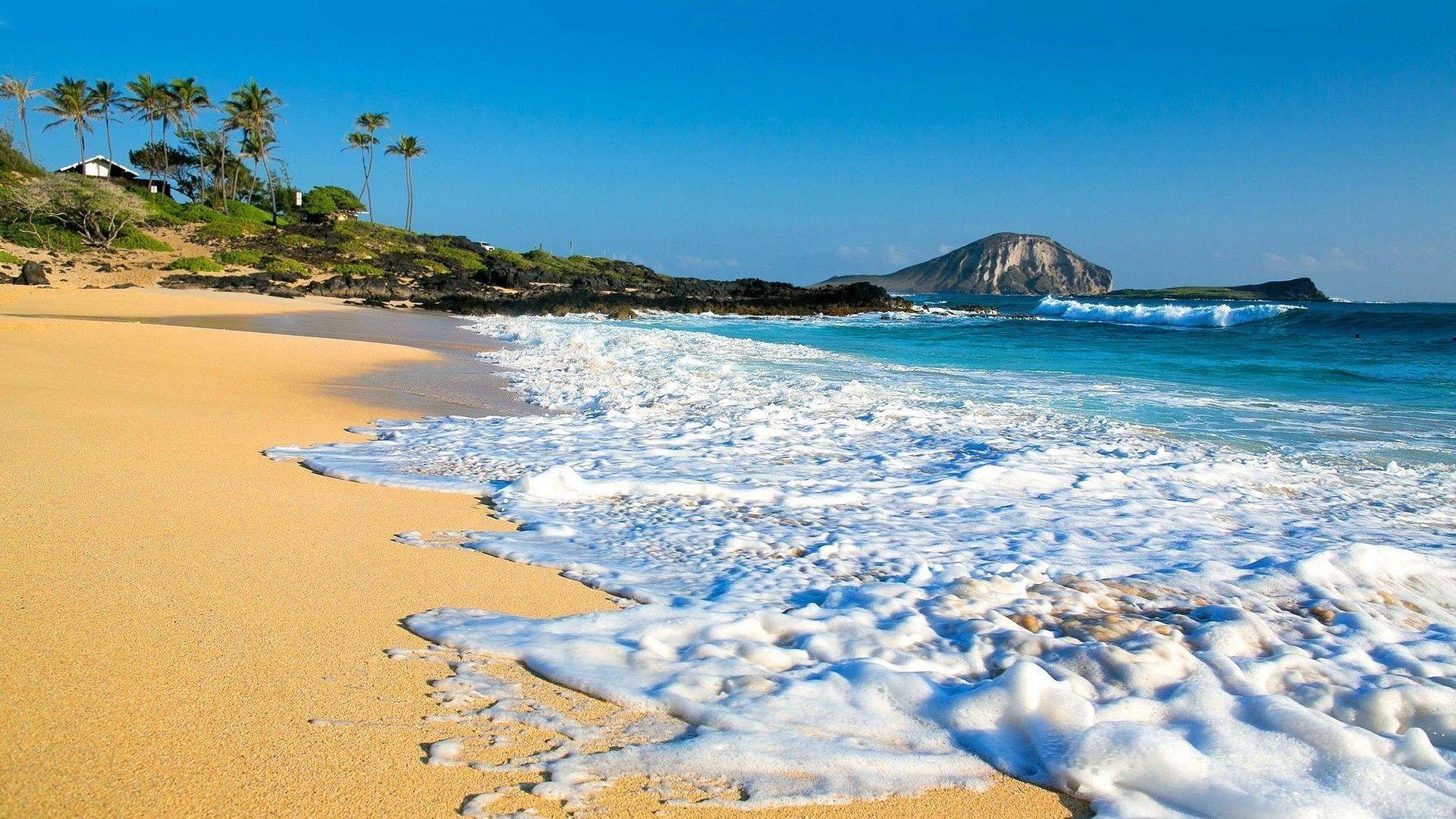 Res: 1920x1080, Hawaii Beach HD Wallpaper  For Desktop - Beraplan.com