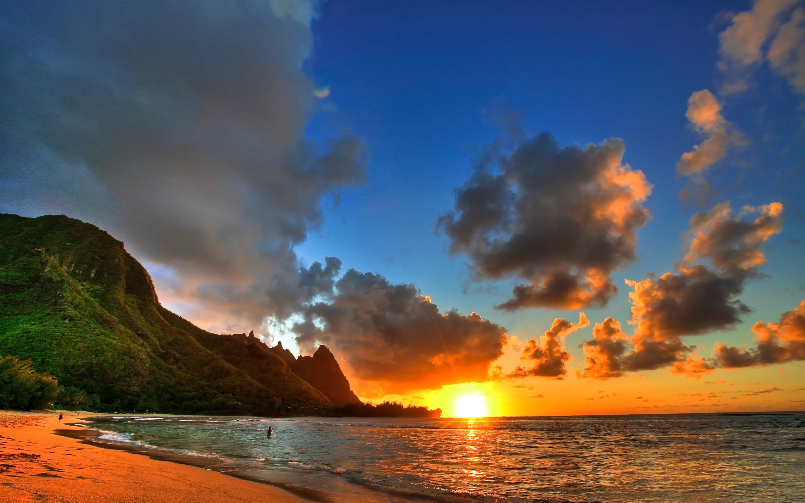 Res: 2560x1600, Hawaii Sunset Wallpaper Background