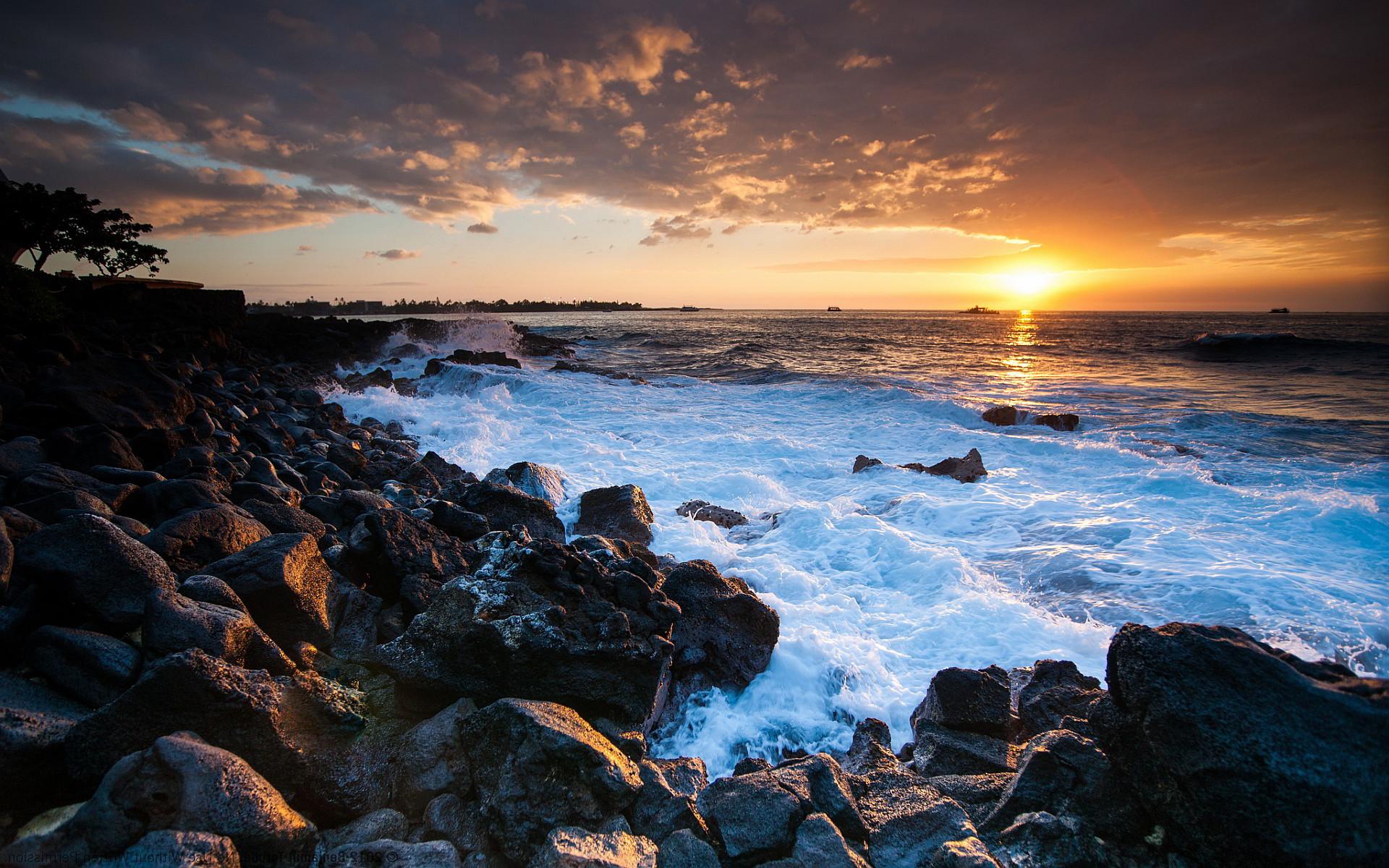 Res: 1920x1200, Hawaii coast sunset