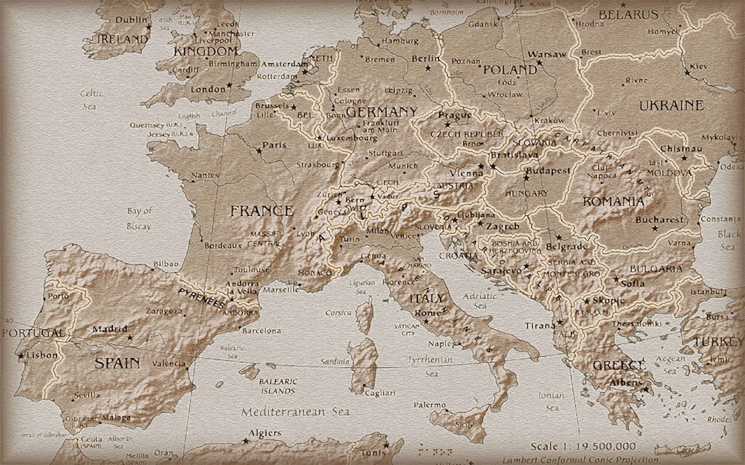 Res: 2560x1600, Image: Europe old map wallpapers and stock photos. Â«