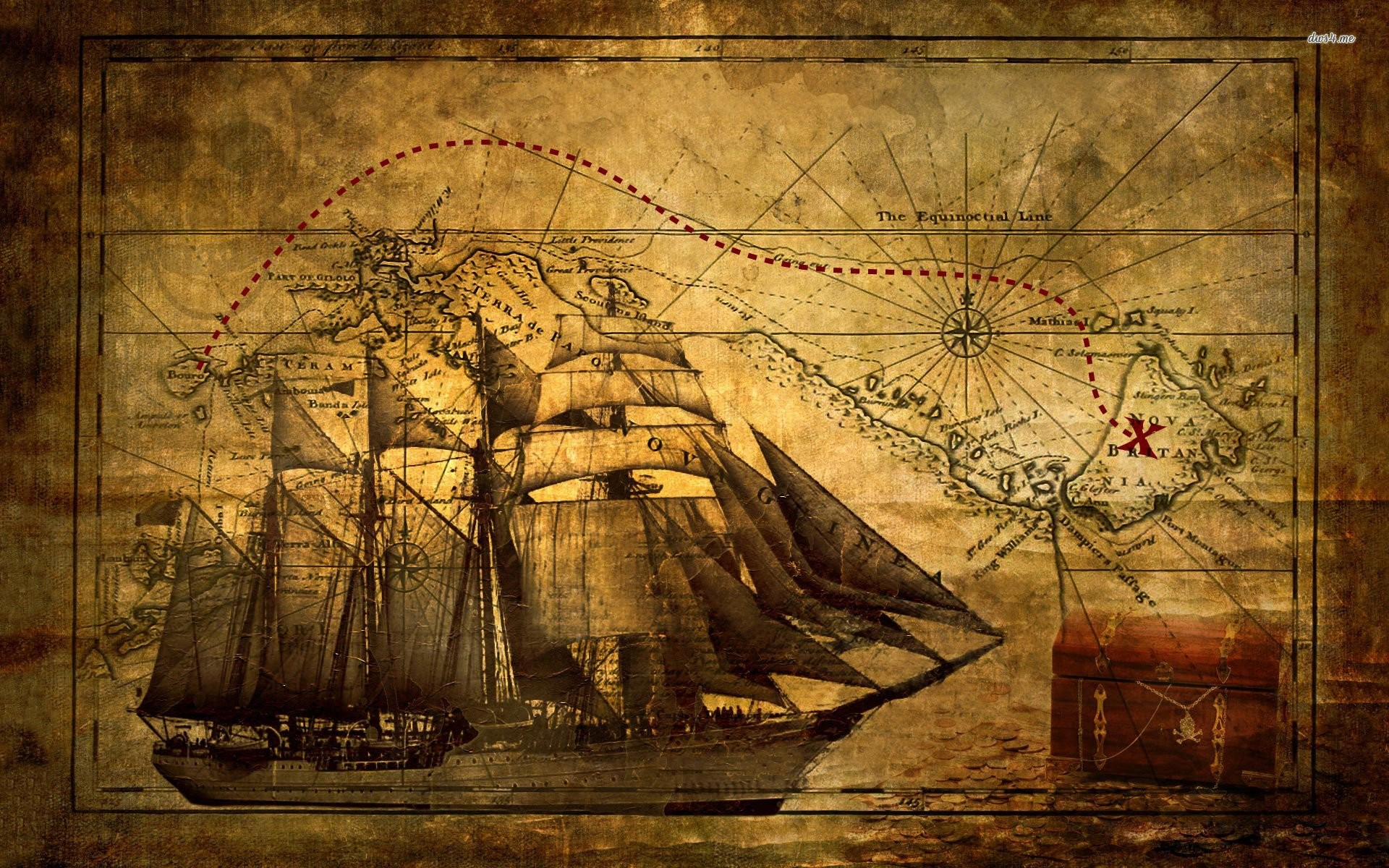 Res: 1920x1200, old ship with map