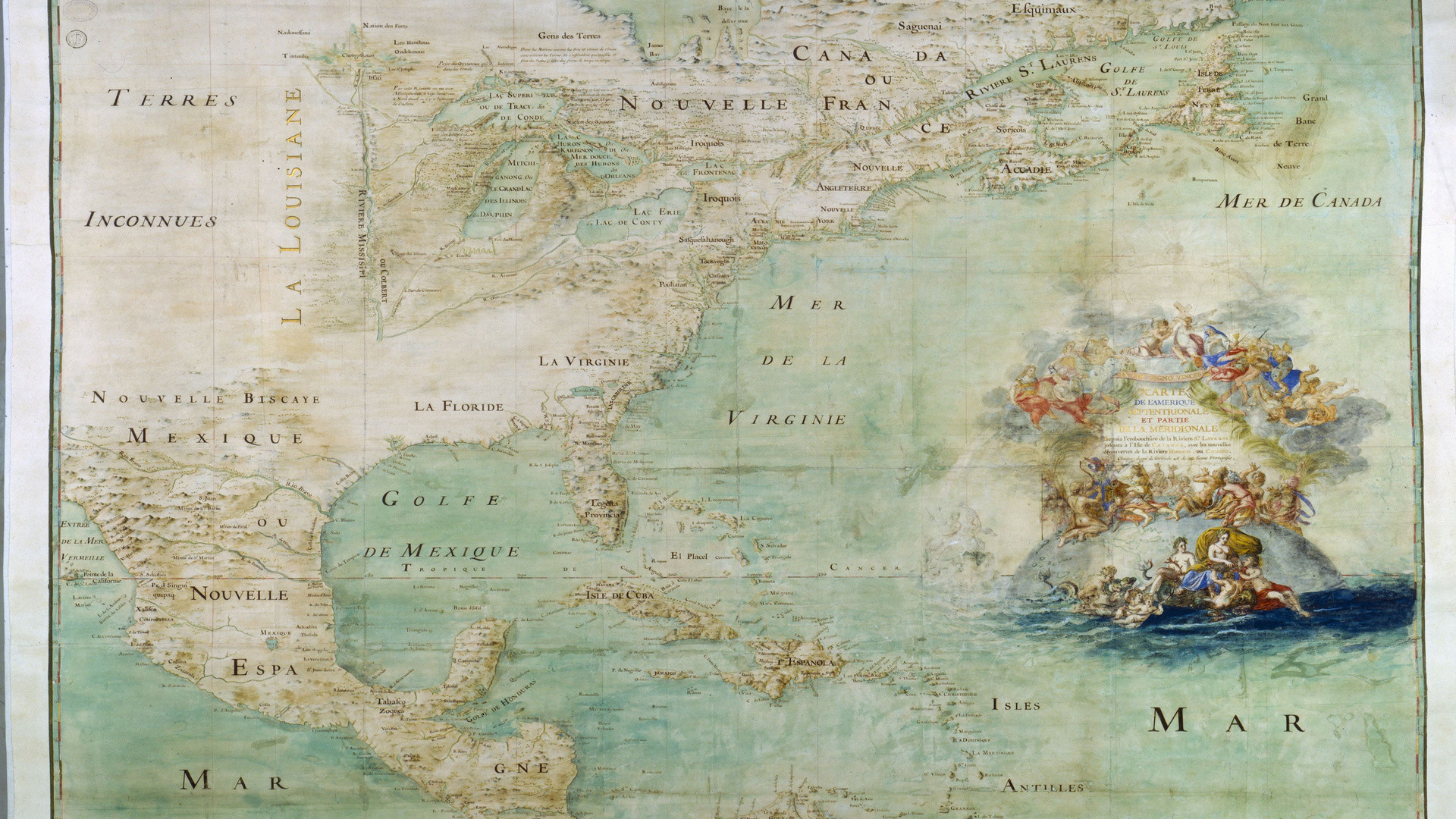 Res: 1920x1080, Old Map, Map, North America