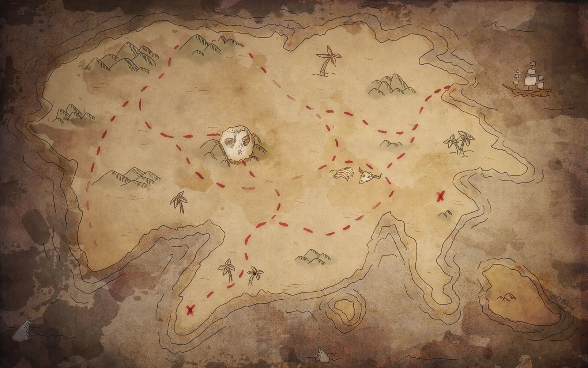 Res: 1920x1200, old map wallpaper.