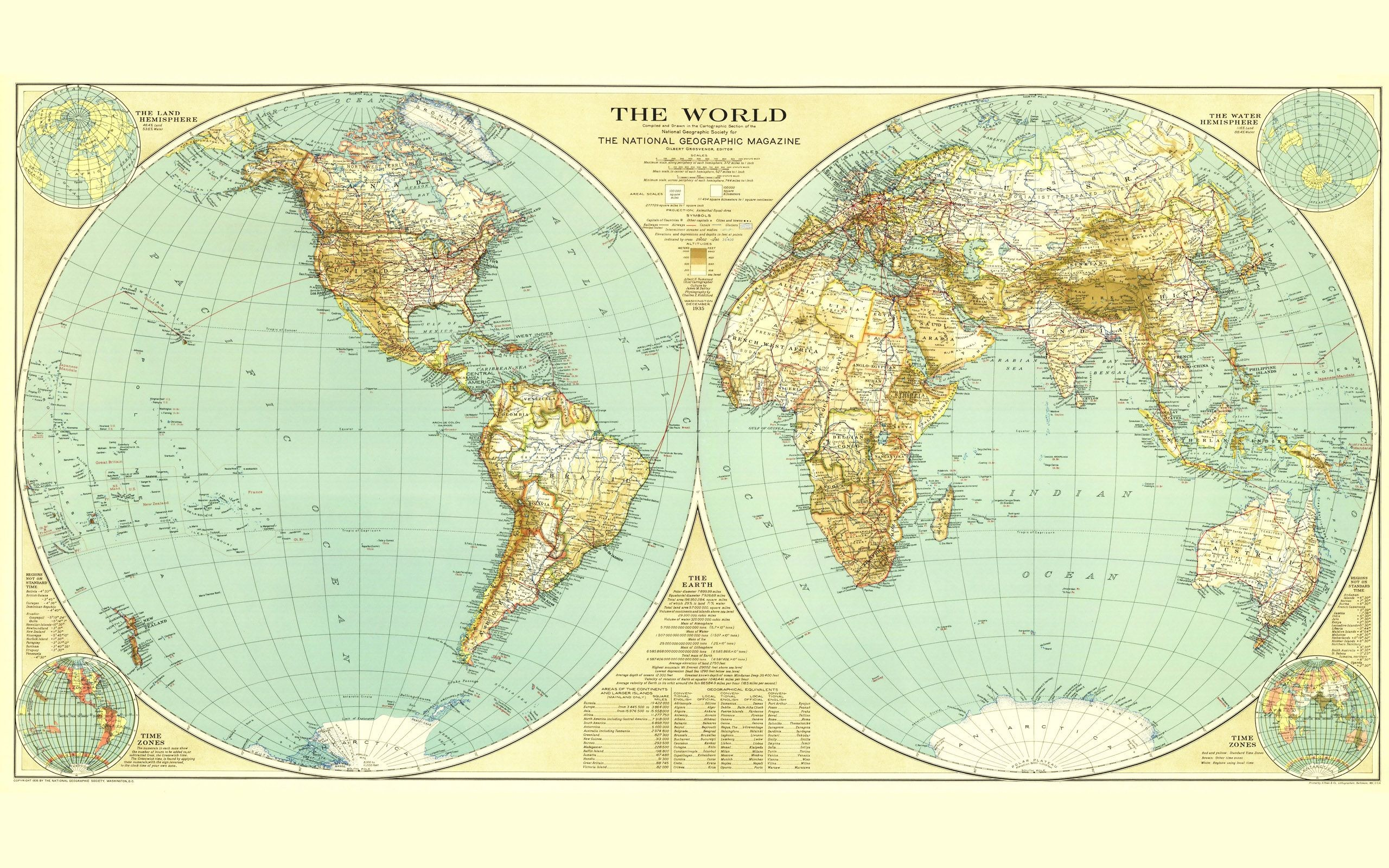 Res: 2560x1600, 76988-World_Map_Extra_Large_Vol_1_No_4 - the national geographic magazine