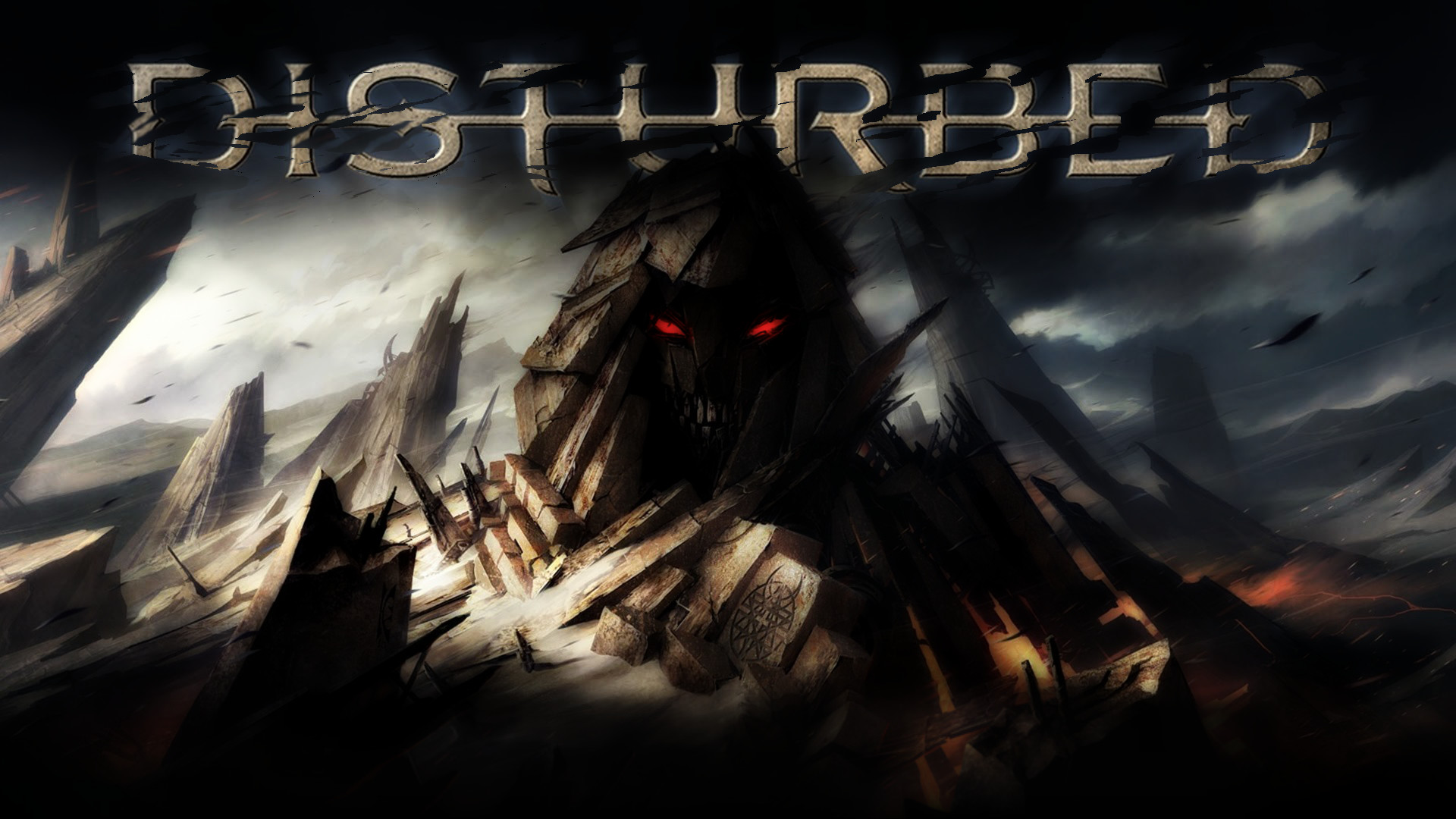 Res: 1920x1080, Disturbed Logo Wallpaper For Iphone