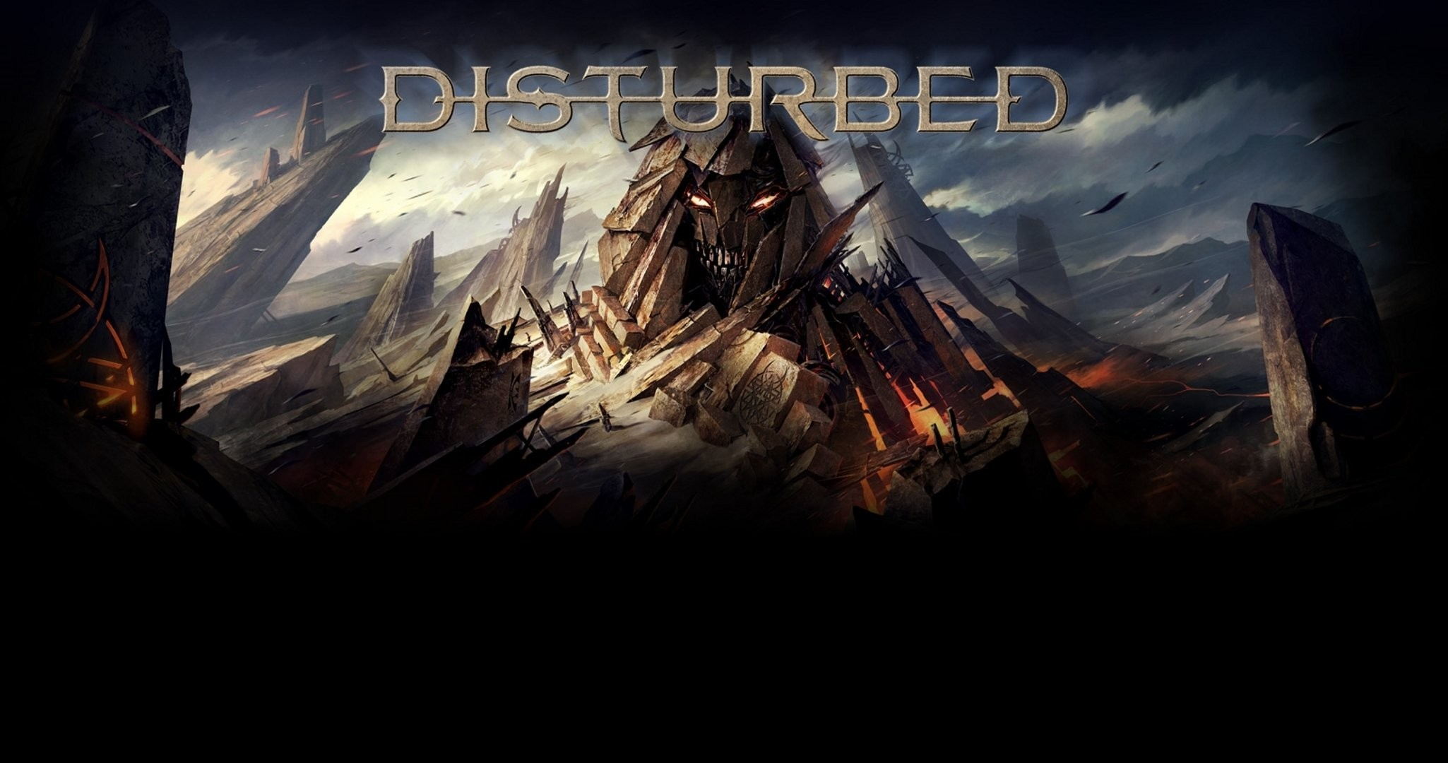 Res: 2050x1080, disturbed immortalized the vengeful one HD wallpaper