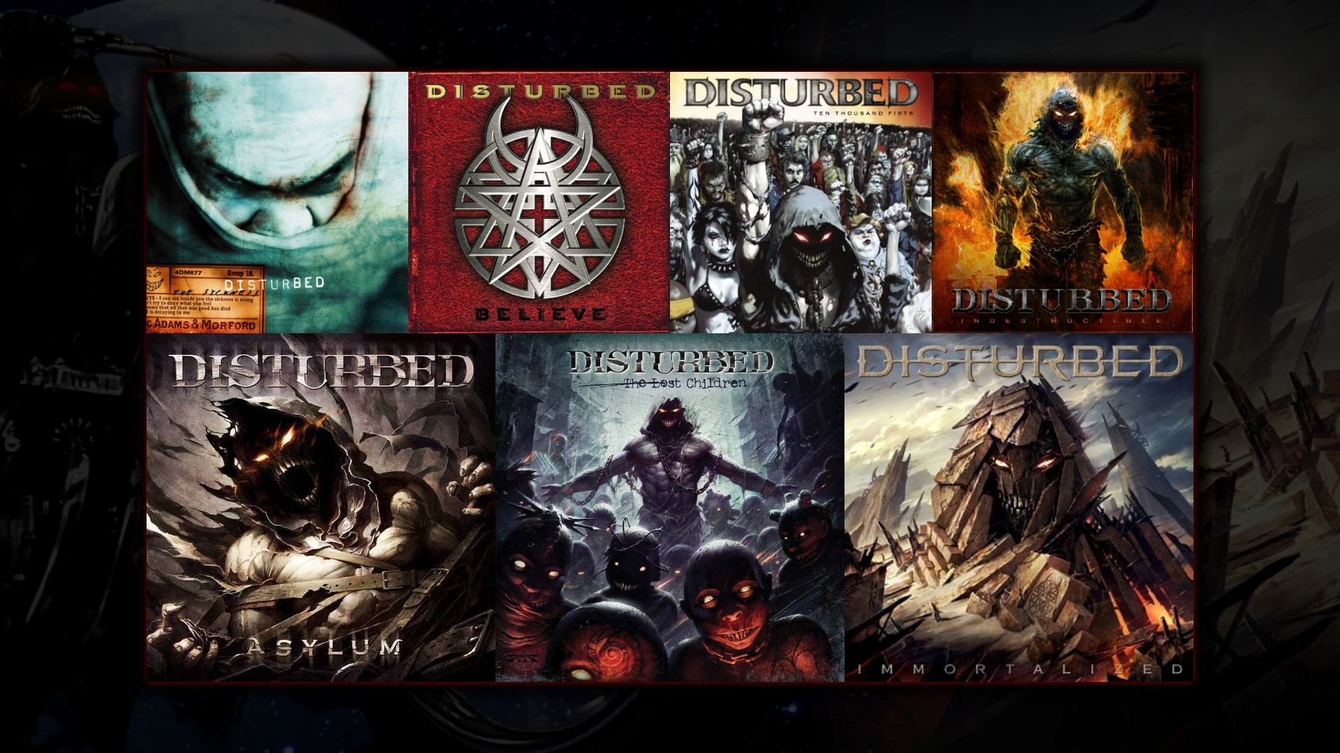 Res: 1920x1080, I just made this Disturbed discography wallpaper, thought I'd share  [] ...