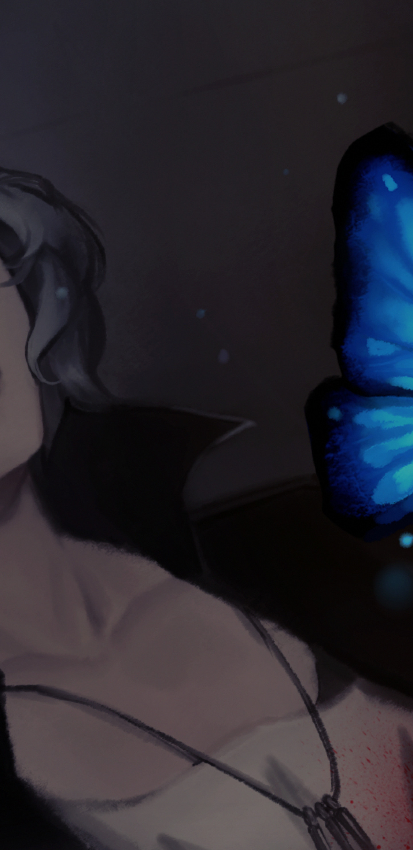 Res: 1440x2960, Life Is Strange, Chloe Price, Blue Butterfly, Artwork