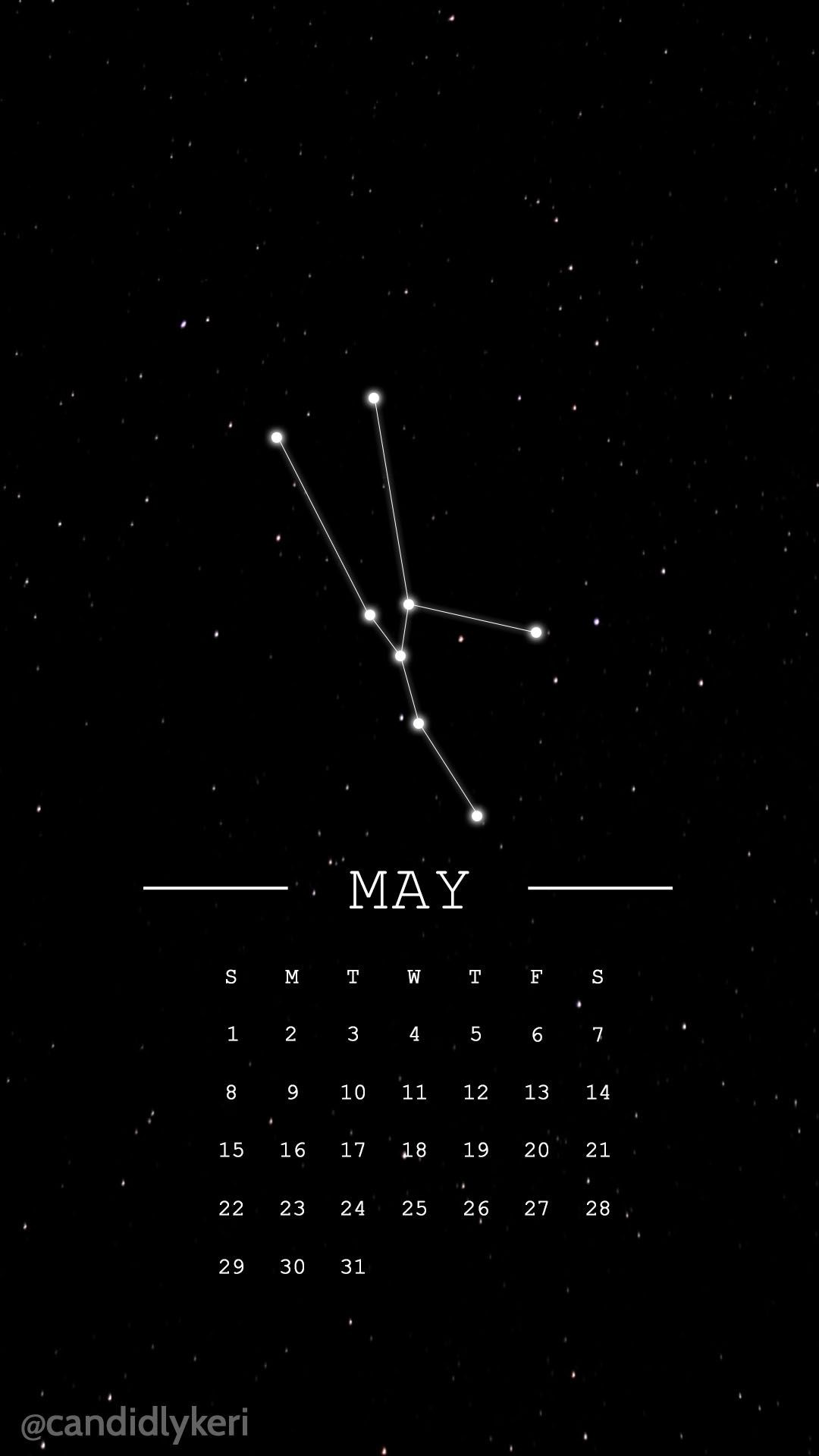 Res: 1080x1920, Taurus constellation horoscope may 2016 calendar wallpaper free download  for iPhone android or desktop background on