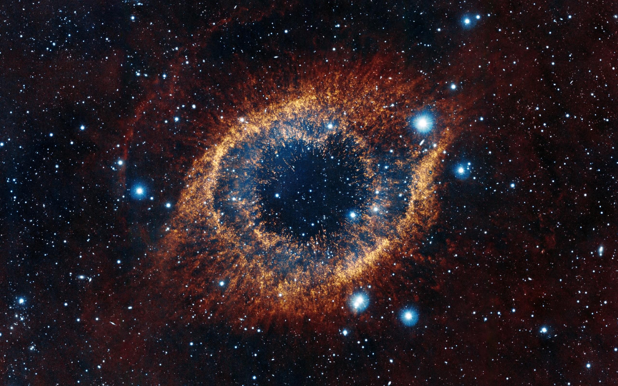 Res: 2560x1600, Nebula, Constellation, Helix, Snail, Aquarius, Nebula