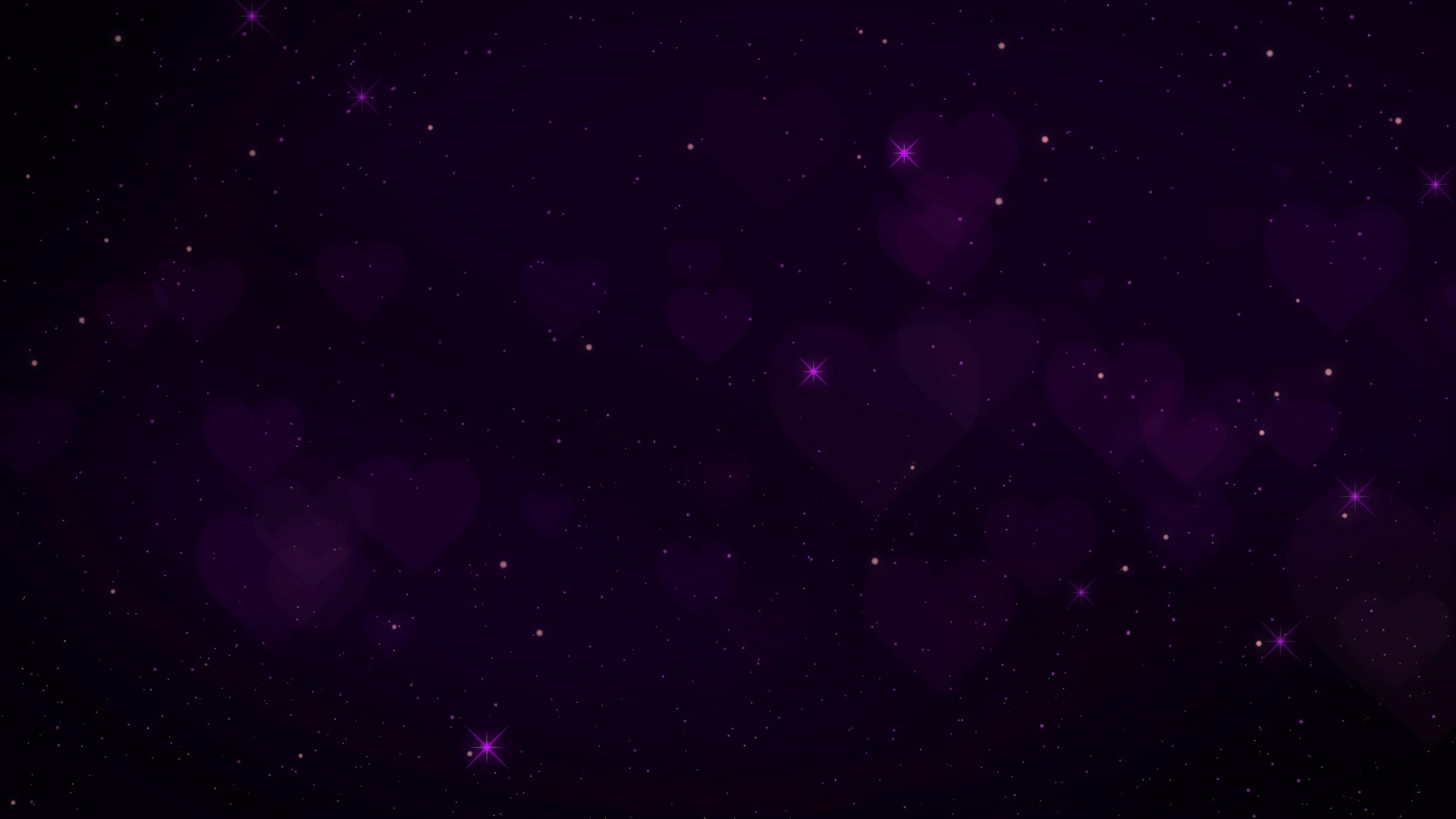 Res: 3840x2160, constellation, galaxy, hearts, stars