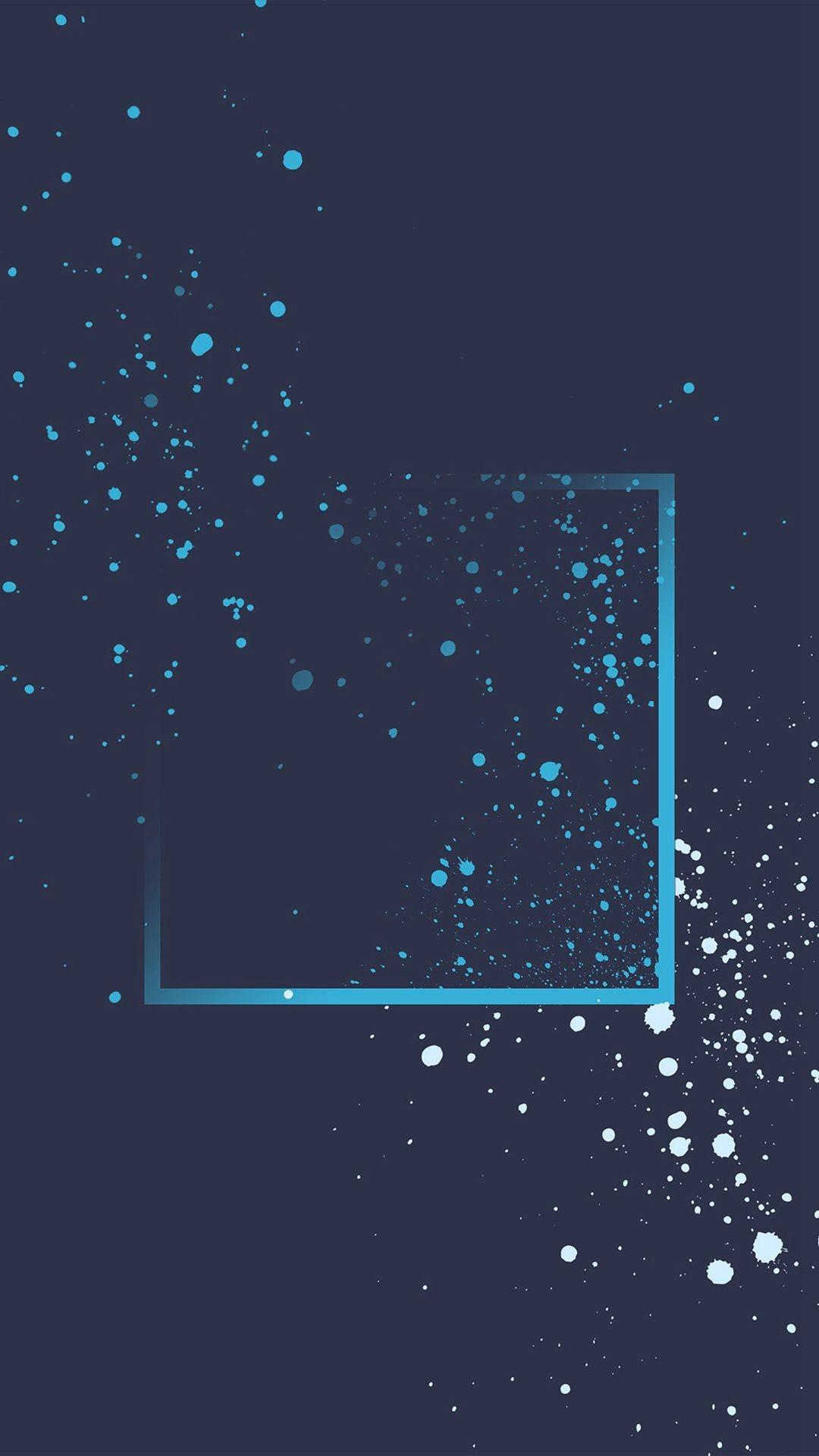 Res: 1080x1920, Blue Dot Paint Art Pattern Htc Background #iPhone #6 #plus #wallpaper