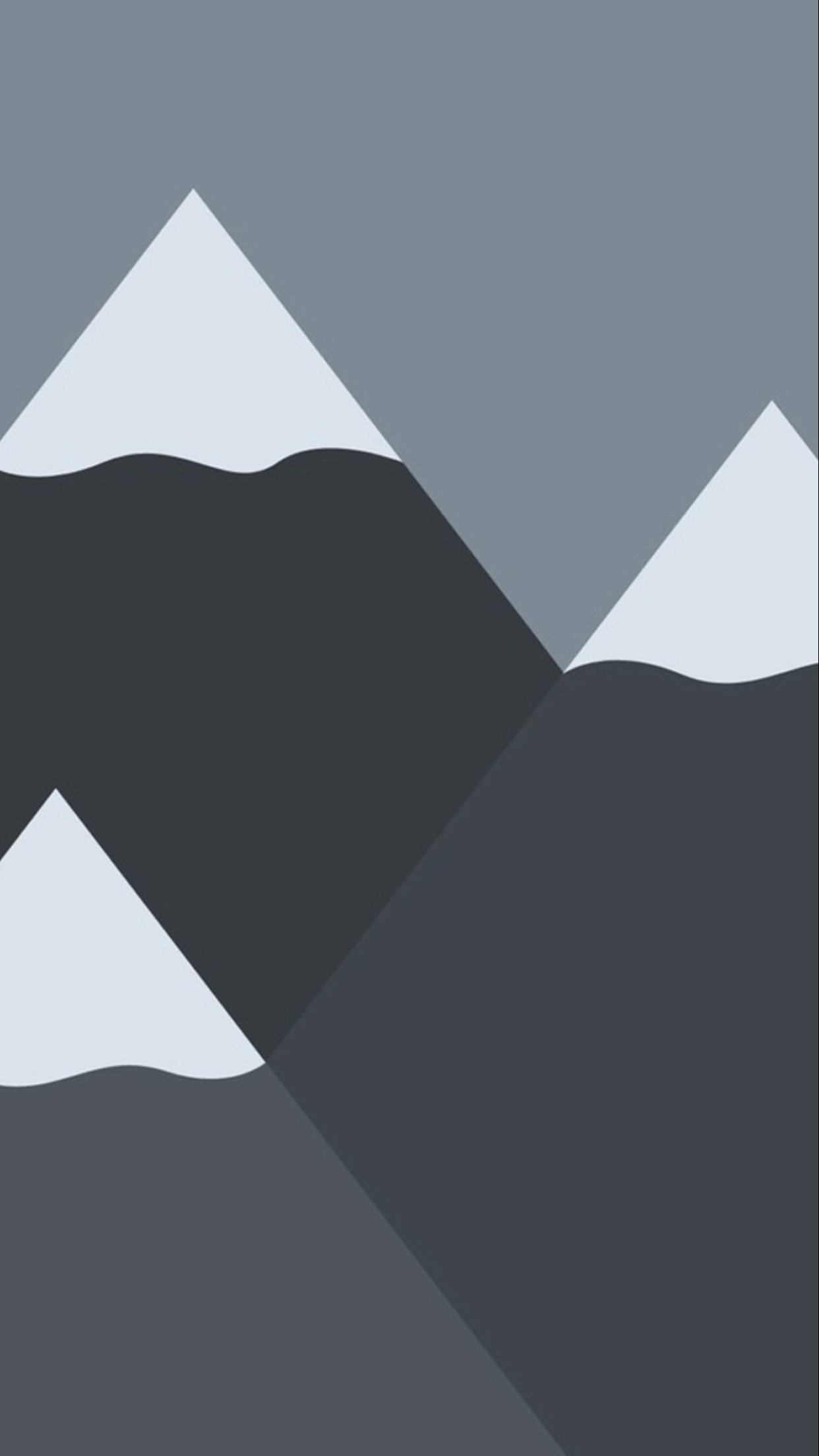 Res: 1242x2208, Mountains Minimal Wallpaper iPhone 6 Plus