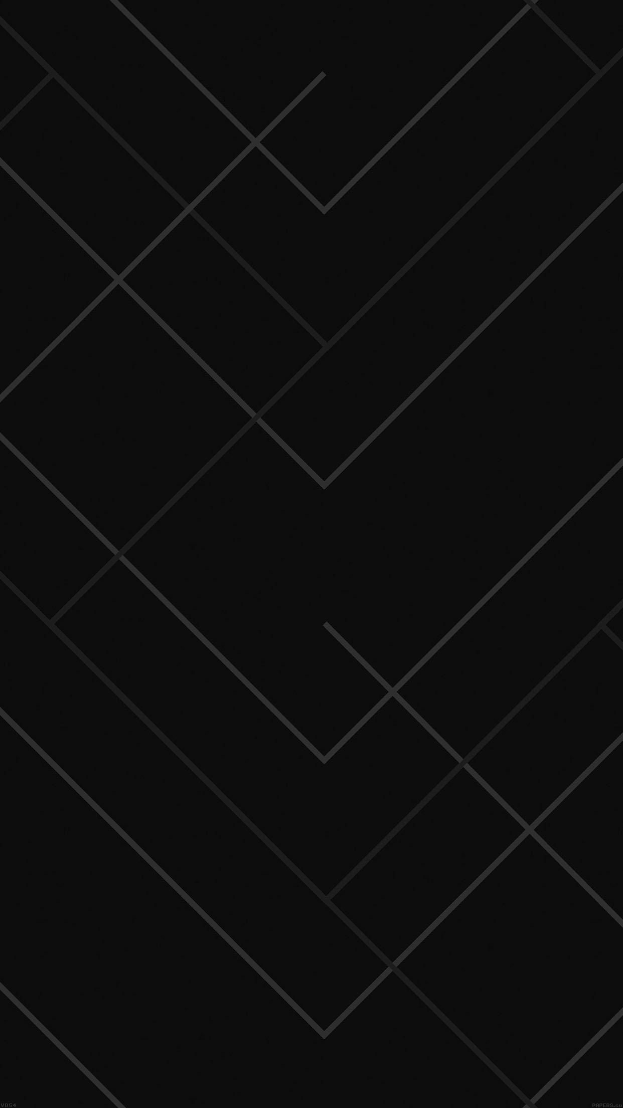 Res: 1242x2208, Abstract Black Geometric Line Pattern - iPhone 6s Plus Wallpaper