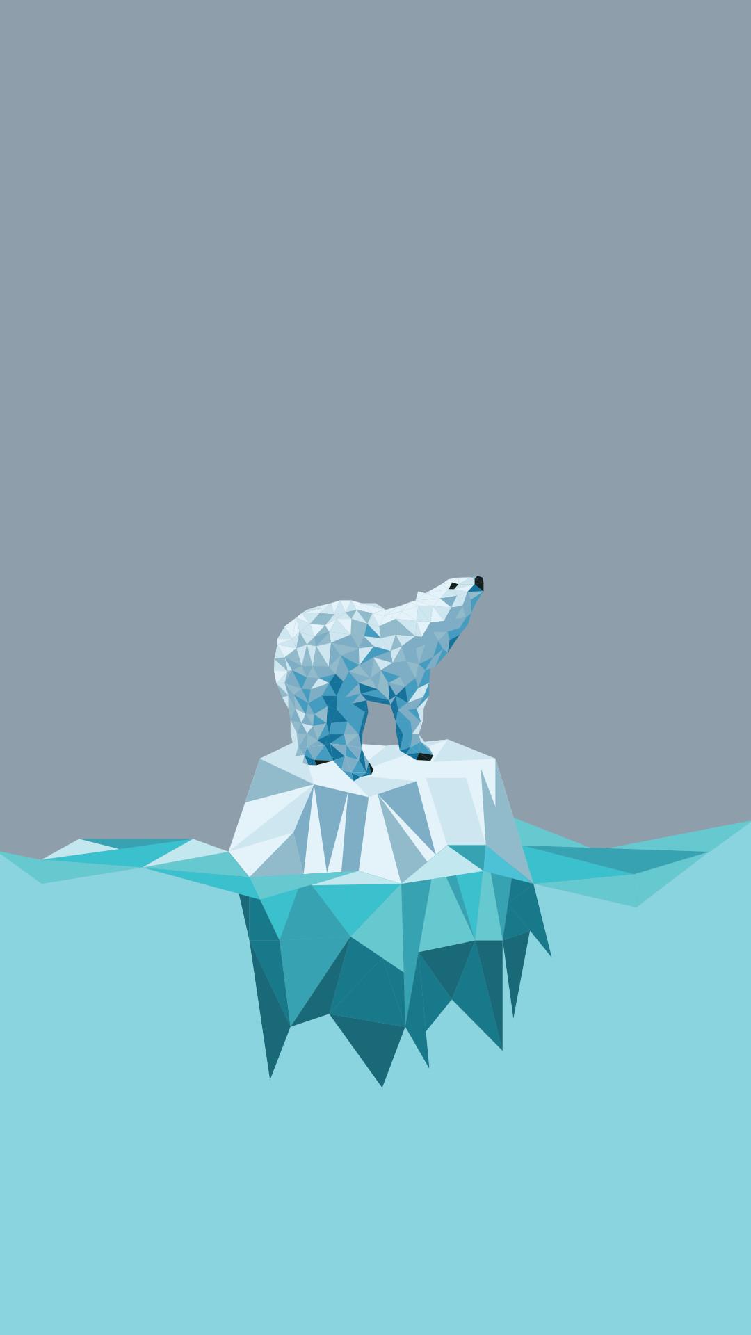 Res: 1080x1920, Minimal iPhone wallpaper ❤ polar bear