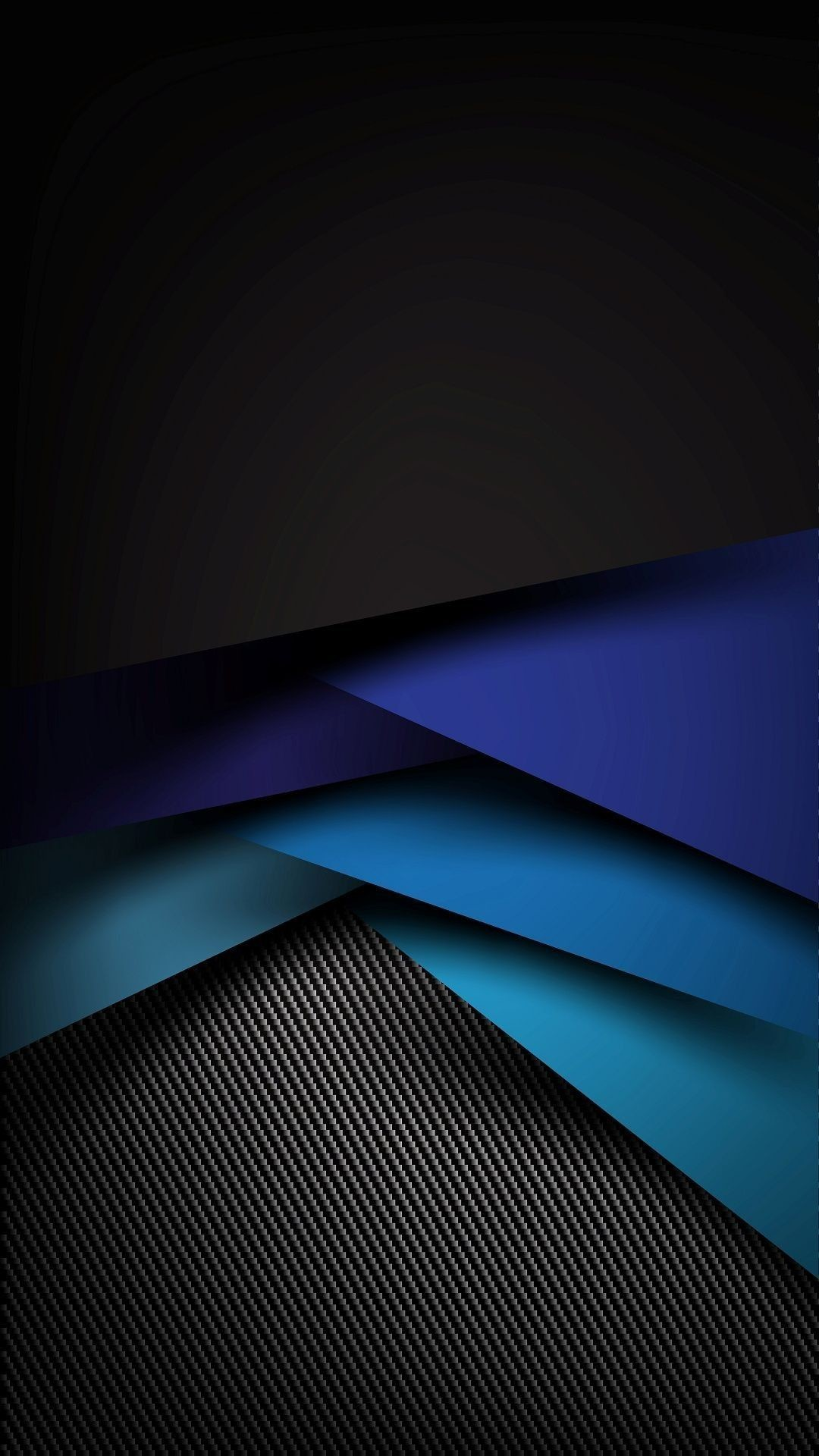 Res: 1080x1920, Black and Blue Geometric Abstract Wallpaper