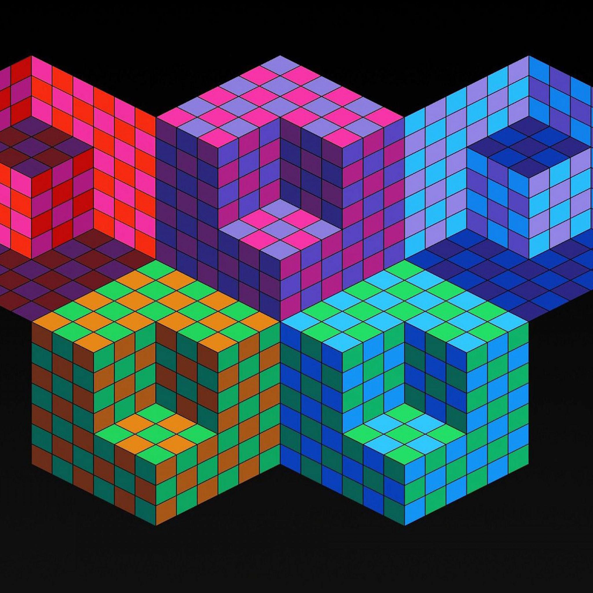 Res: 2048x2048, Geometric iPad Wallpaper 3