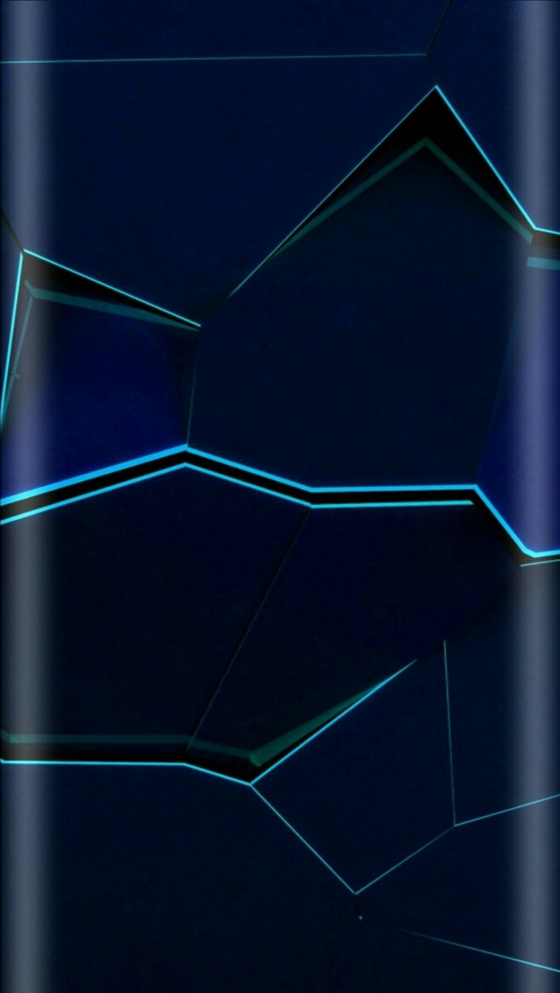 Res: 1154x2048, Blue Cracked Abstract Wallpaper