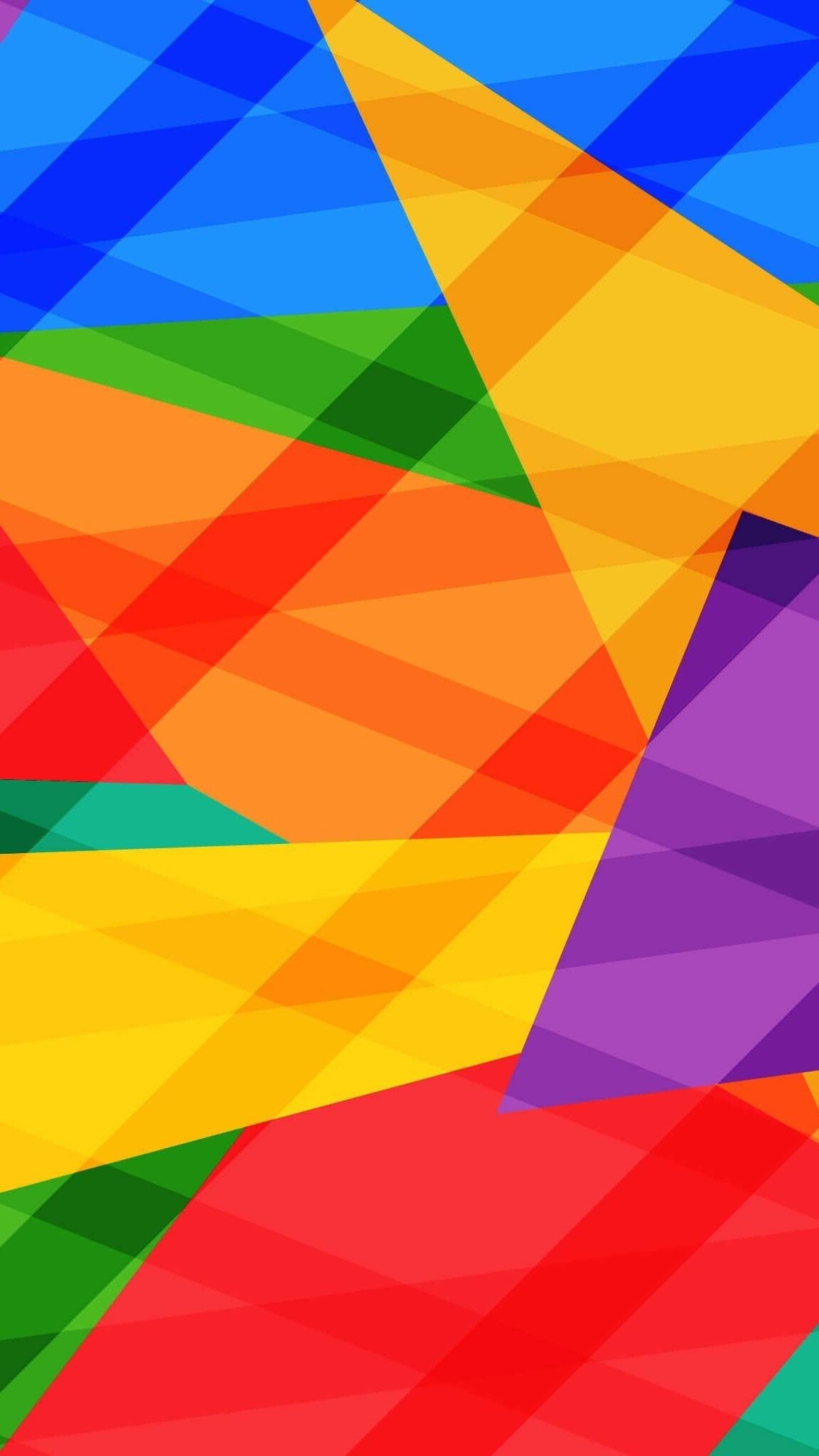Res: 1152x2048, Colorful Geometric Wallpapers
