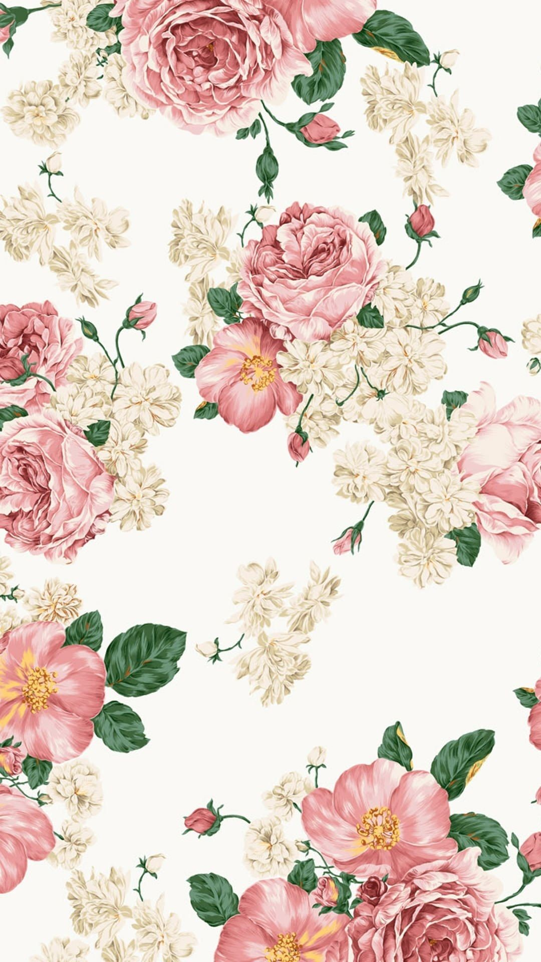 Res: 1080x1920, Painting of roses wallpaper. Roses, flowers, vintage, painting, watercolor, ornament, iPhone, Android, Backgrounds, HD, Sazum 2017.