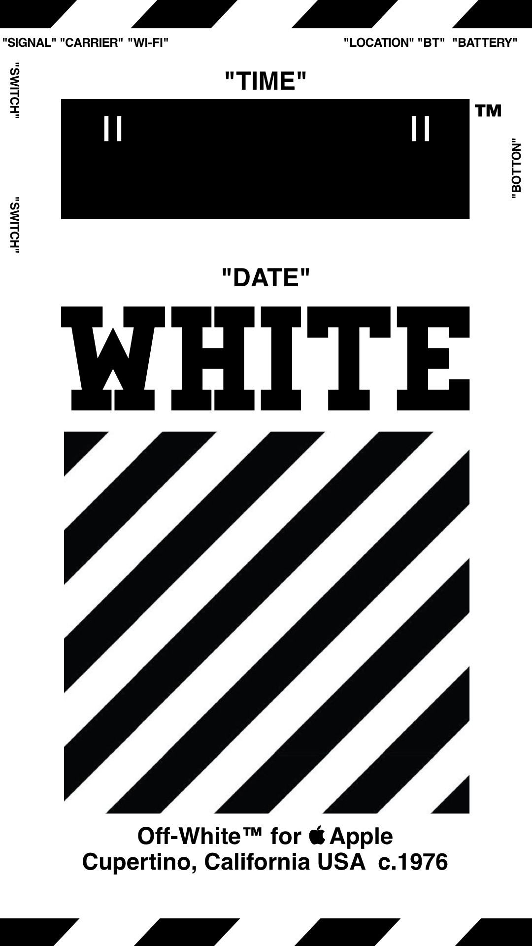 Res: 1080x1920, Off-White™ WALLPAPER IPHONE 壁紙 18/4/3-8 OFFWHITE オフ