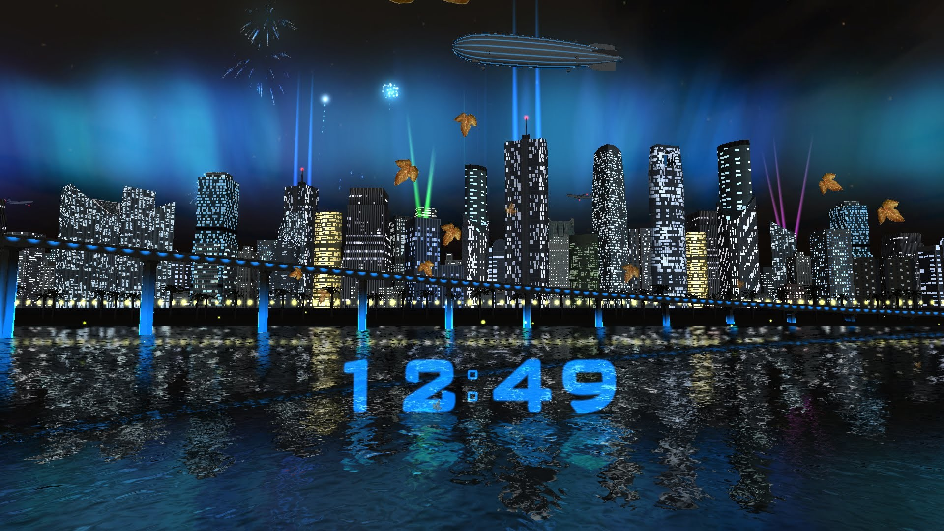 Res: 1920x1080, Day Night City Fireworks LWP (v.1.0.3) - Live wallpaper by Exacron Full HD(1080p)  - YouTube
