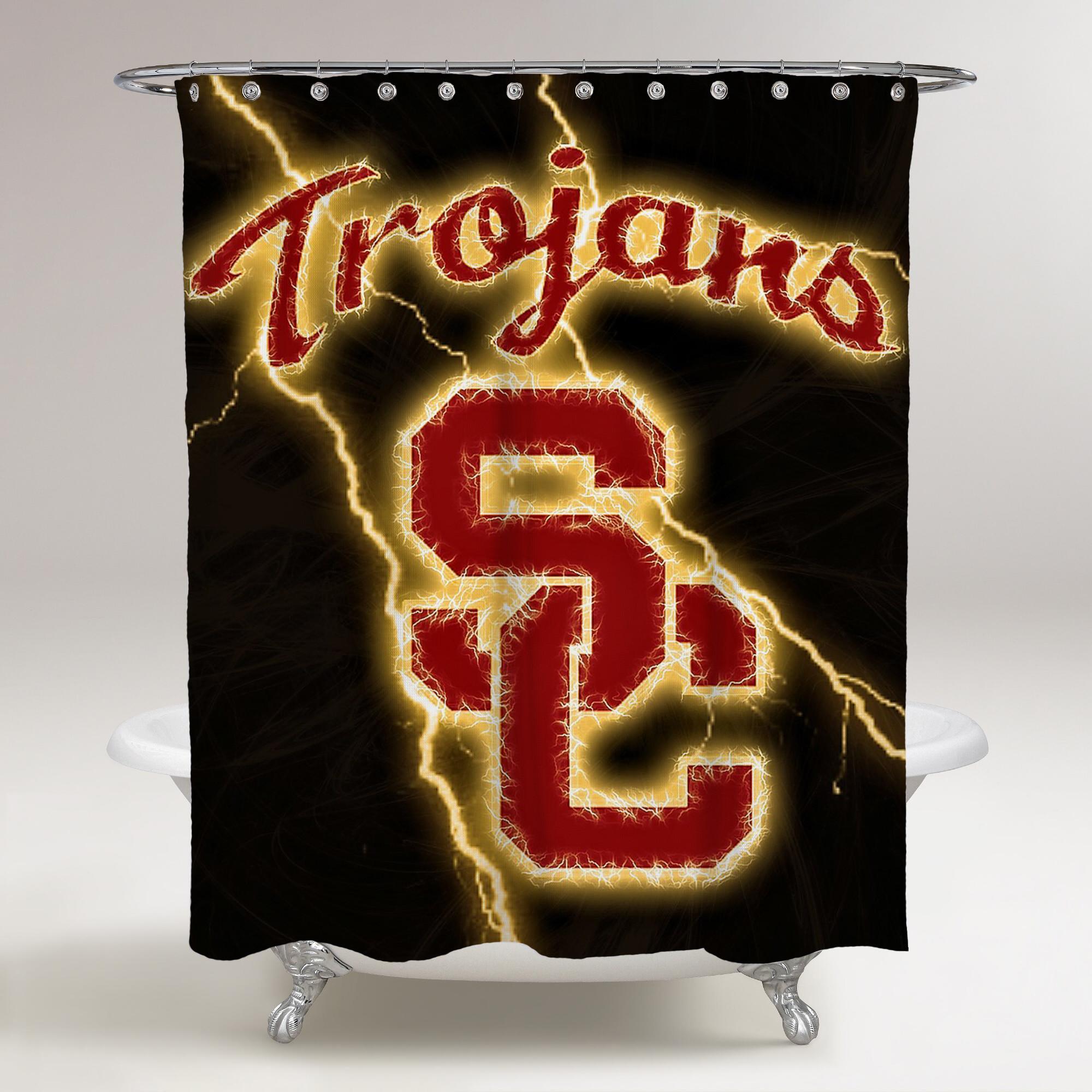 Res: 2000x2000, ... USC TROJANS LOGO WALLPAPER THUNDER LIGHTING BACKGROUND BATHROOM