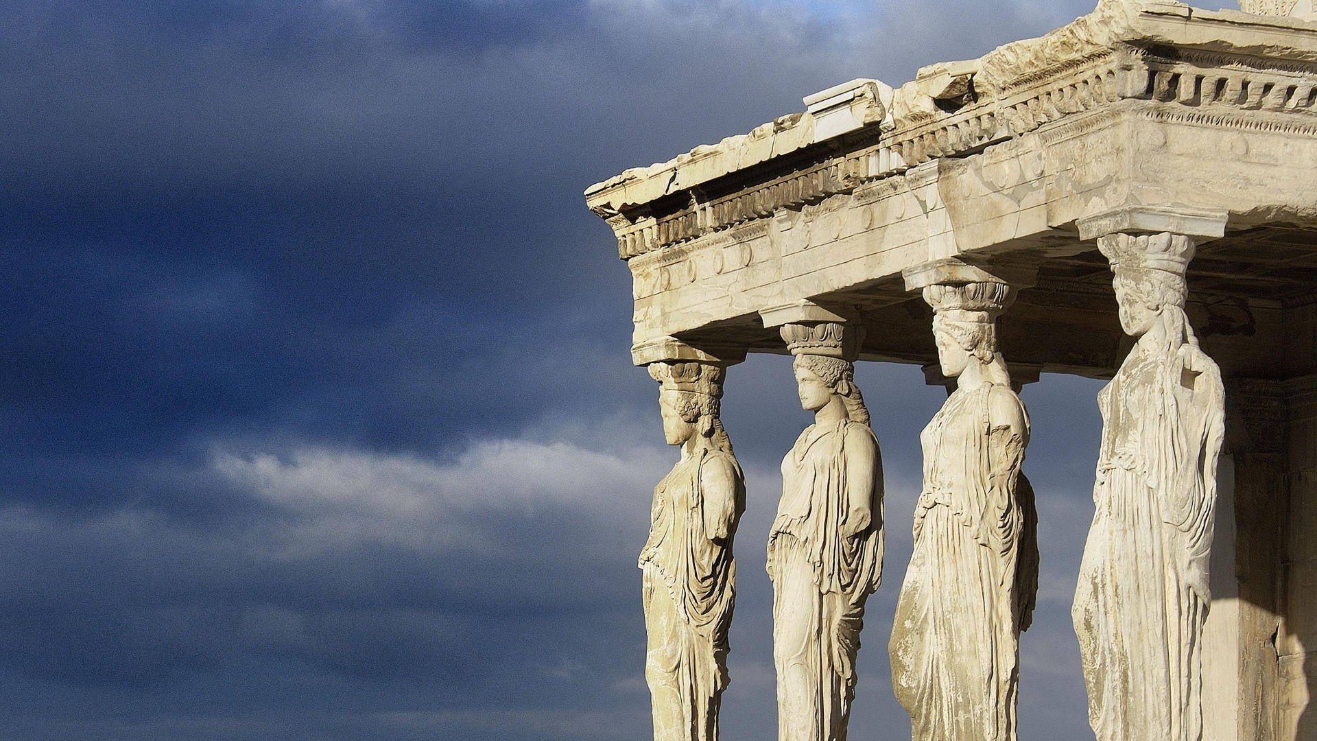 Res: 1920x1080, Decorative columns in Athens