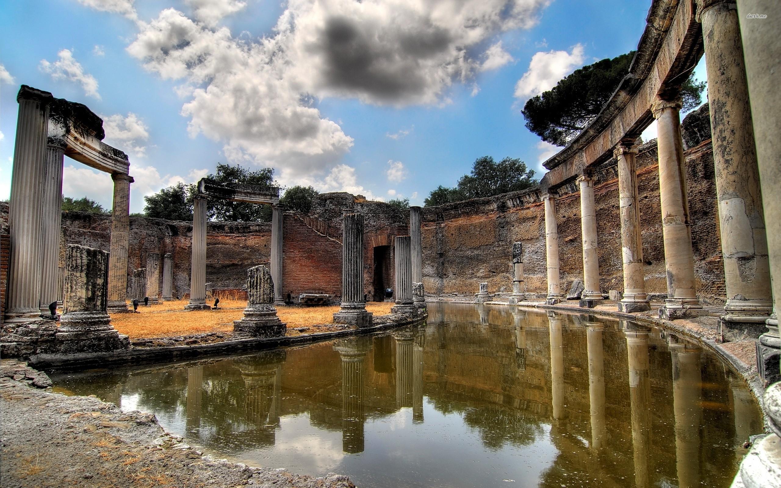 Res: 2560x1600, ... Ancient greek temple wallpaper  ...