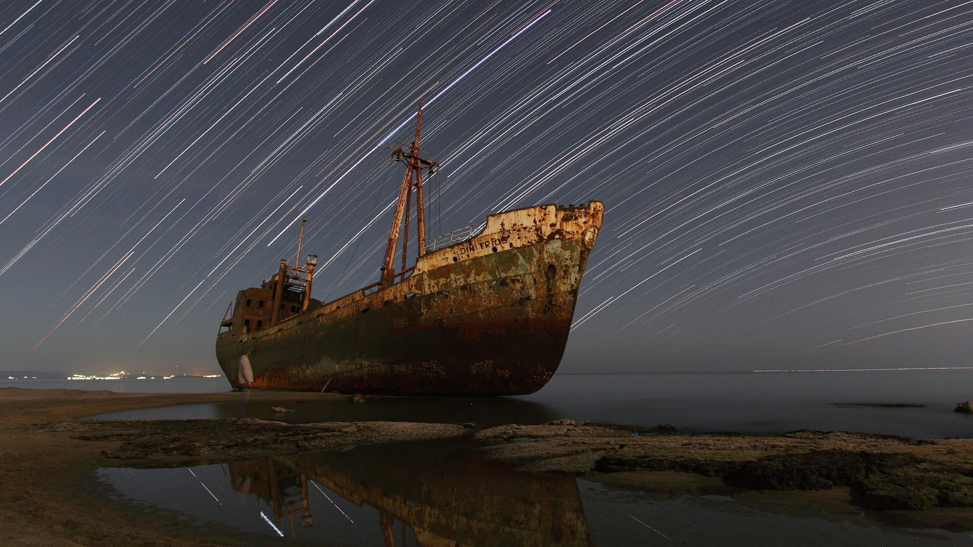 Res: 1920x1080, Dimitrios shipwreck - Valtaki beach, Gythio, Greece wallpaper