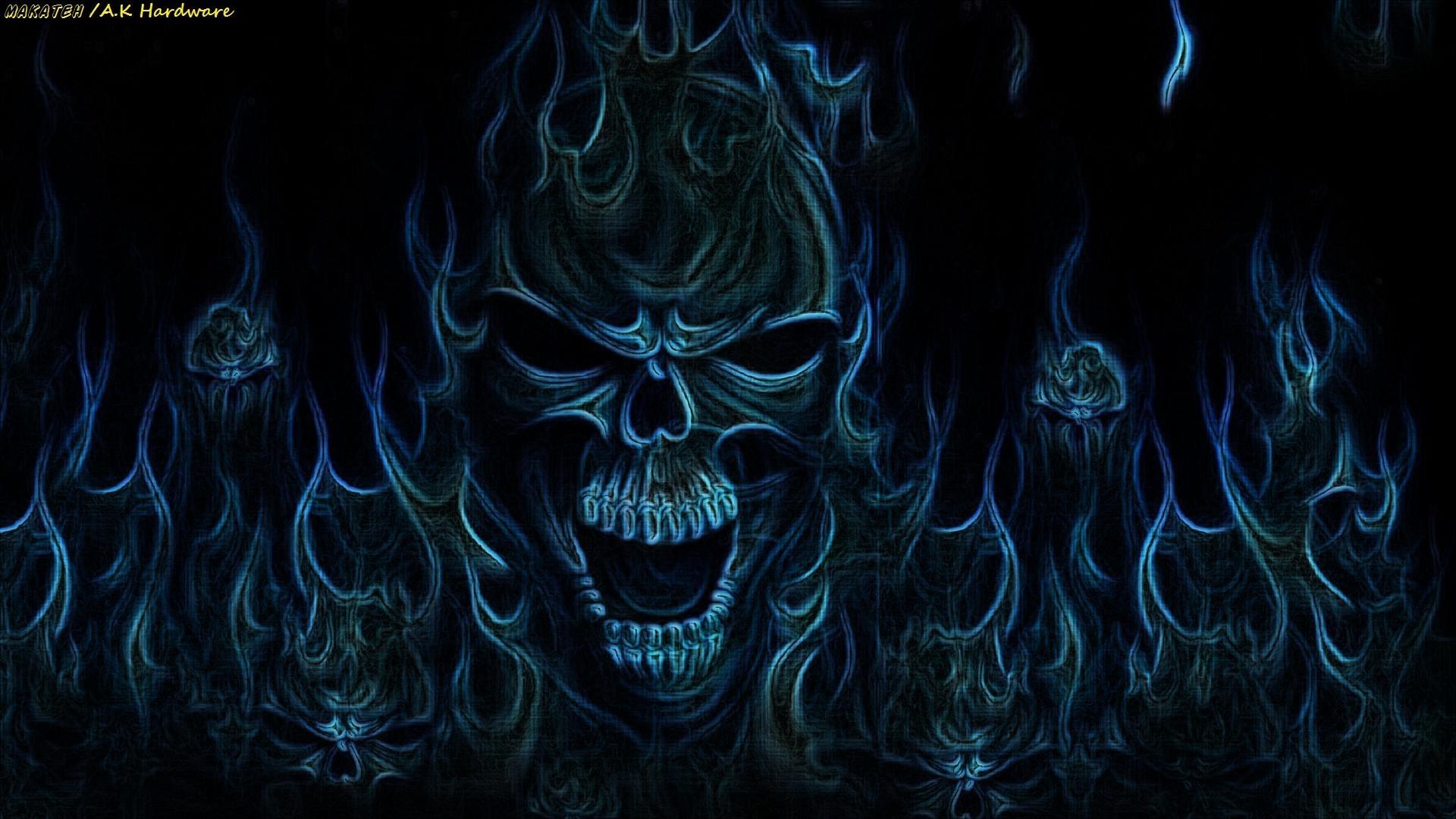 Res: 1920x1080, Dark - Skull Fantasy Horror Wallpaper